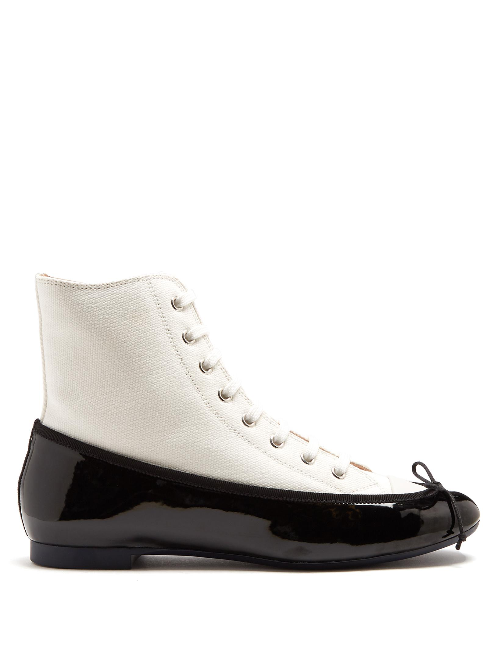 MARCO DE VINCENZO Ballet high-top satin and leather trainers Outlet Manchester Great Sale Buy Cheap 2018 New Clearance Fashion Style Buy Cheap The Cheapest 8wUx9dNq