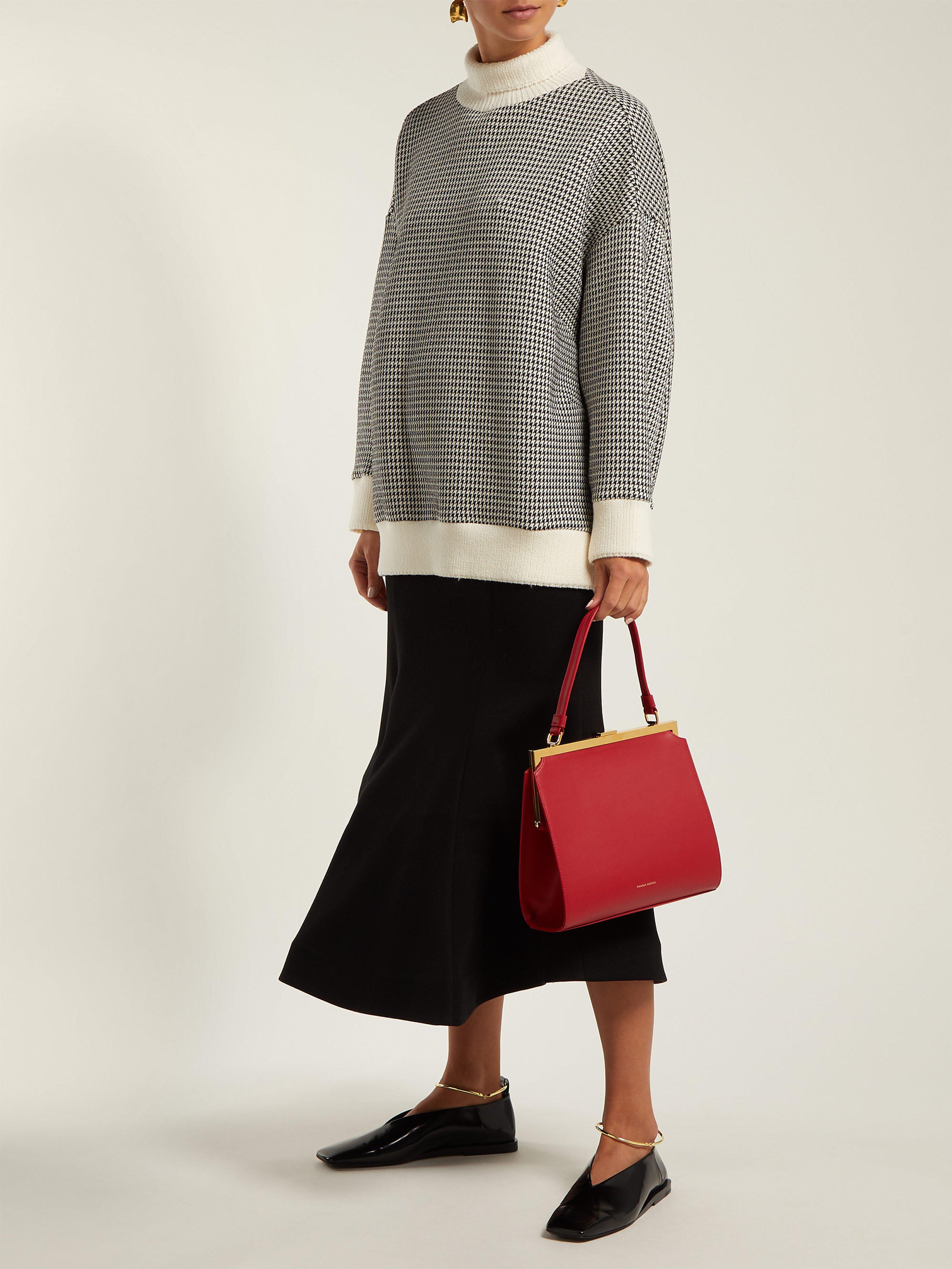 006391c4a022 Mansur Gavriel Elegant Leather Bag in Red - Lyst