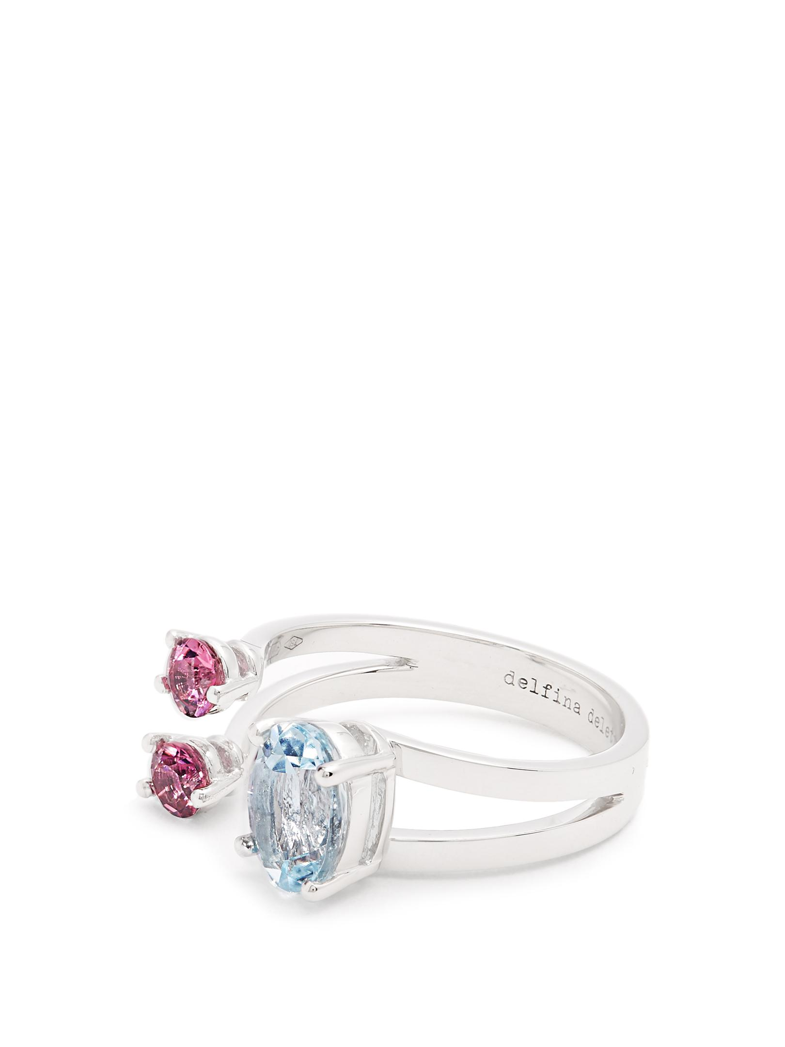 Delfina Delettrez 18-karat White Gold, Aquamarine And Tourmaline Ring