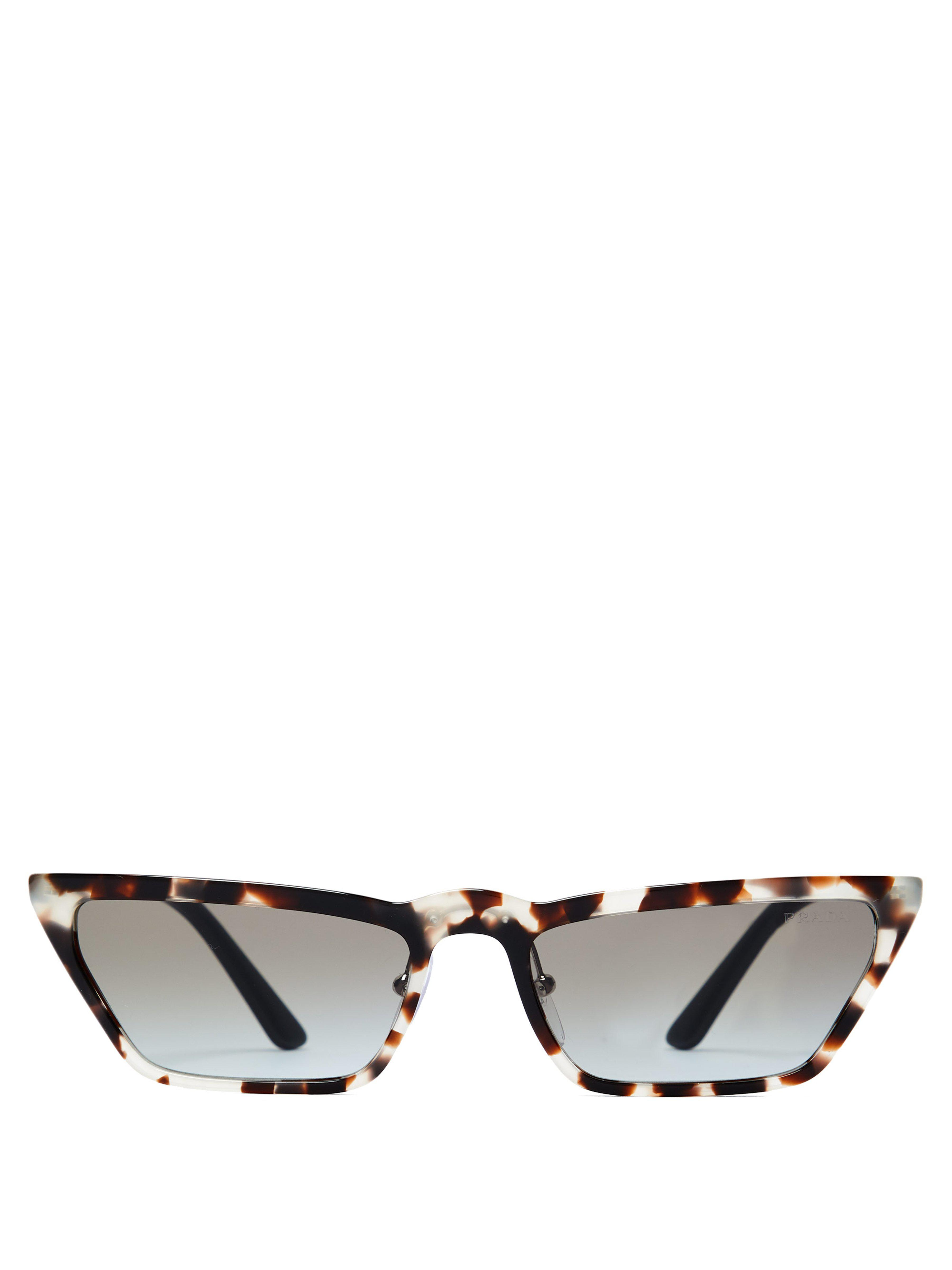 ed5743f0d8fc Prada Ultravox Rectangular Acetate Sunglasses - Lyst