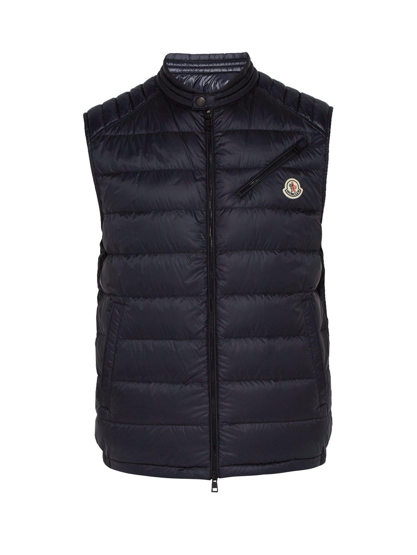aa8f77b96 Lyst - Moncler Arv Down Filled Gilet in Blue for Men