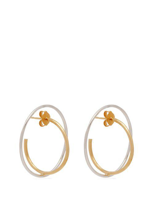 Charlotte Chesnais Saturn 18kt gold and sterling-silver earrings GWmQhi