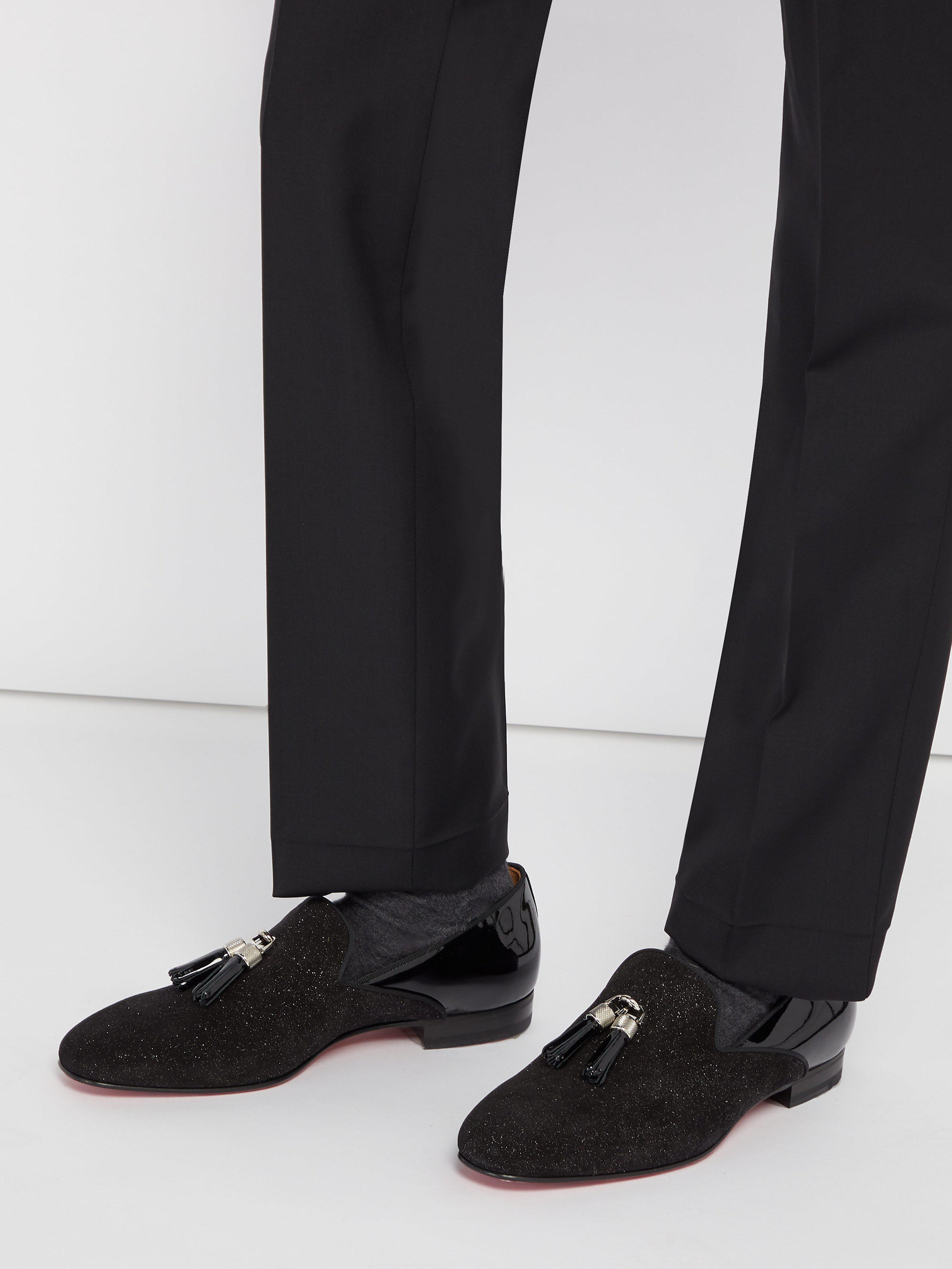 8bcea13366d Christian Louboutin Tassileon Patent Leather Loafers in Black for Men - Lyst