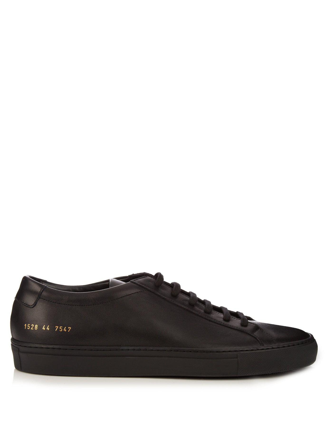 8bad31a841ed Lyst - Common Projects Black Leather Achilles Sneakers for Men