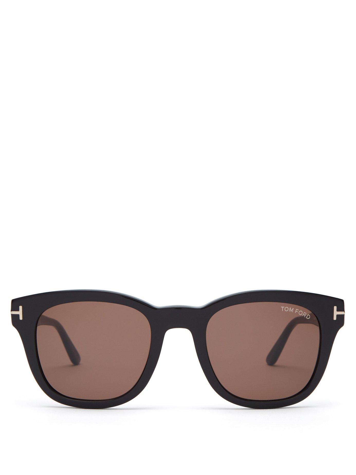6be7014db8d Tom Ford - Black Eugenio Round Frame Acetate Sunglasses for Men - Lyst.  View fullscreen