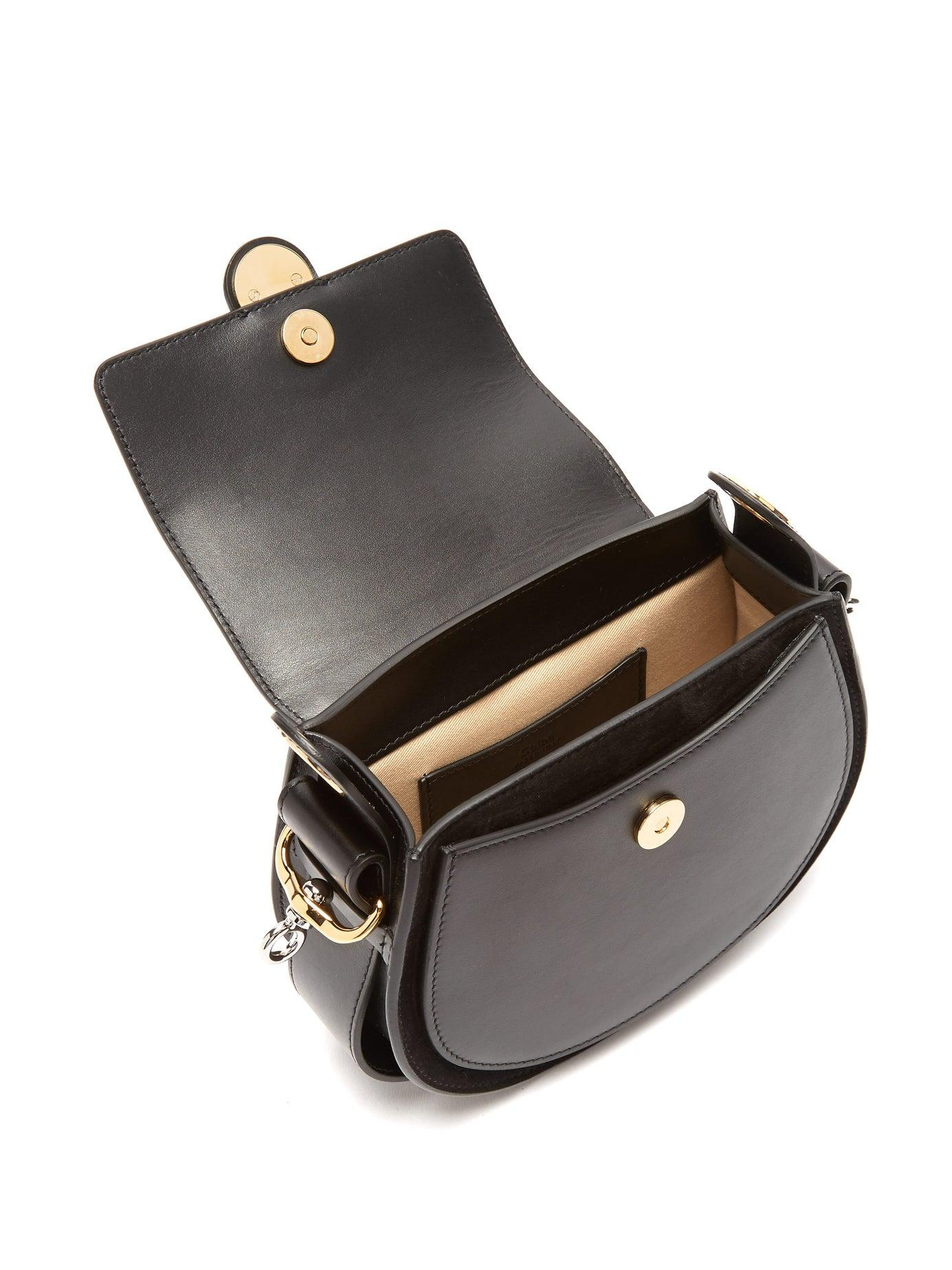 60847865 Chloé Tess Small Leather Cross Body Bag in Black - Lyst