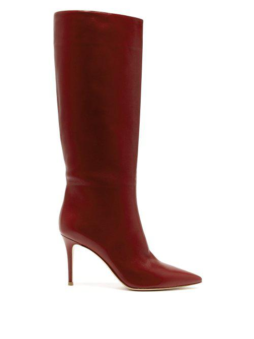 Suzan 85 knee-high leather boots Gianvito Rossi 100% Authentic Online Sale Choice Sale Great Deals All Seasons Available Discount View luPRo4RWb