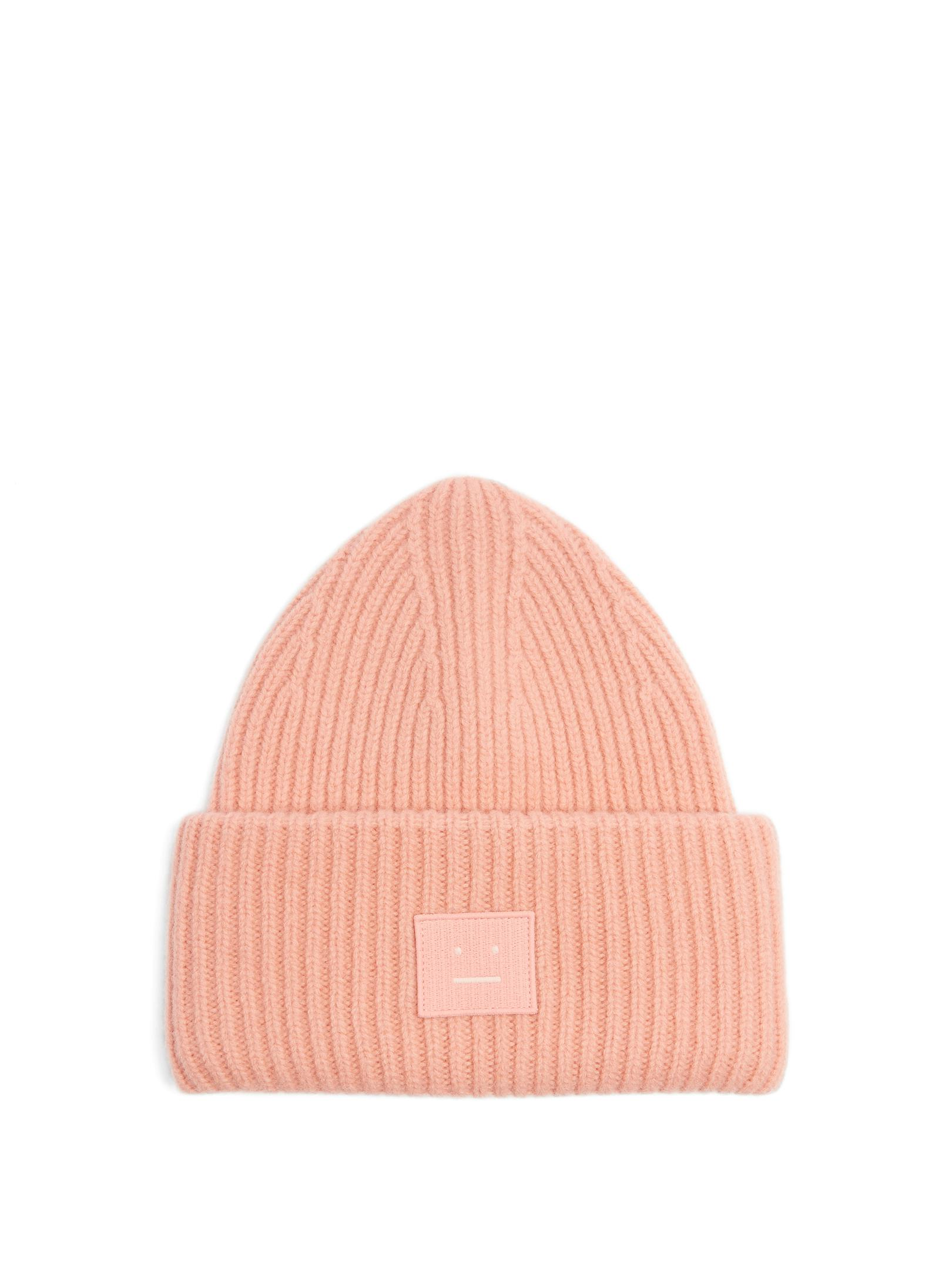 Lyst - Acne Studios Pansy Wool-blend Beanie Hat in Pink 5f8c3cb4ace