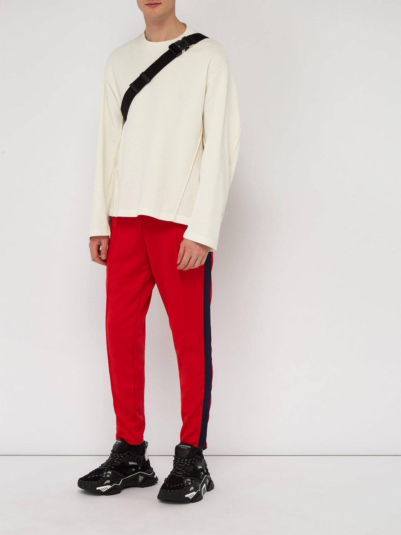 8d2bf78ef961 Lyst - Martine Rose X Nike Technical Jersey Track Pants in Red for Men