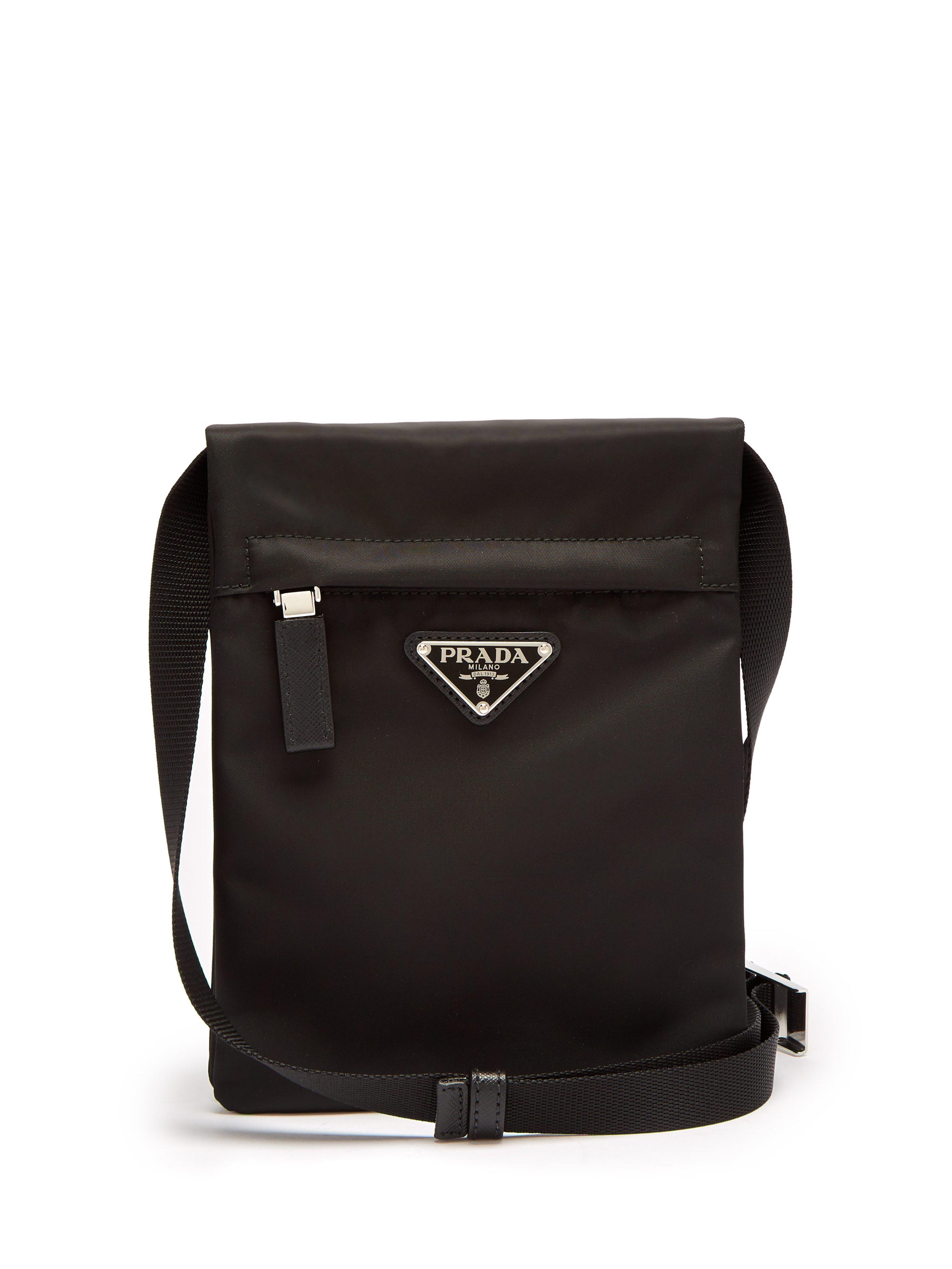 Prada - Black Nylon Cross Body Bag for Men - Lyst. View fullscreen 845bbc692d475