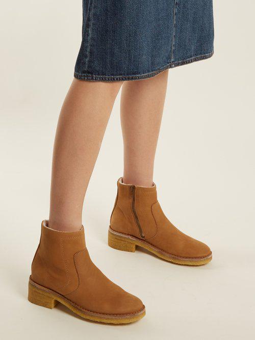 A.P.C Ariette nubuck ankle boots Cheap Excellent seHbkRl59