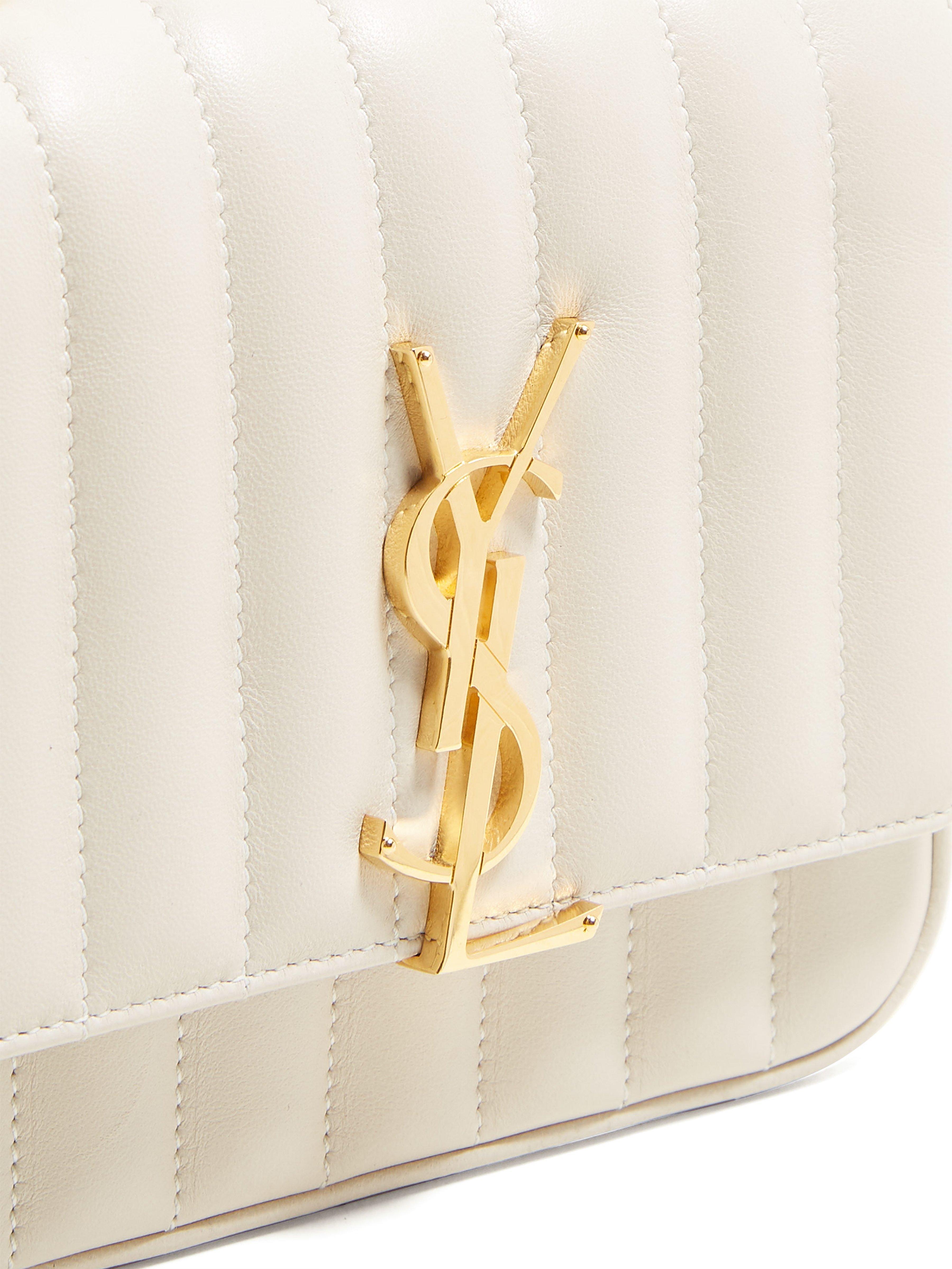 46274538d8b3 Saint Laurent - White Vicky Small Leather Bag - Lyst. View fullscreen