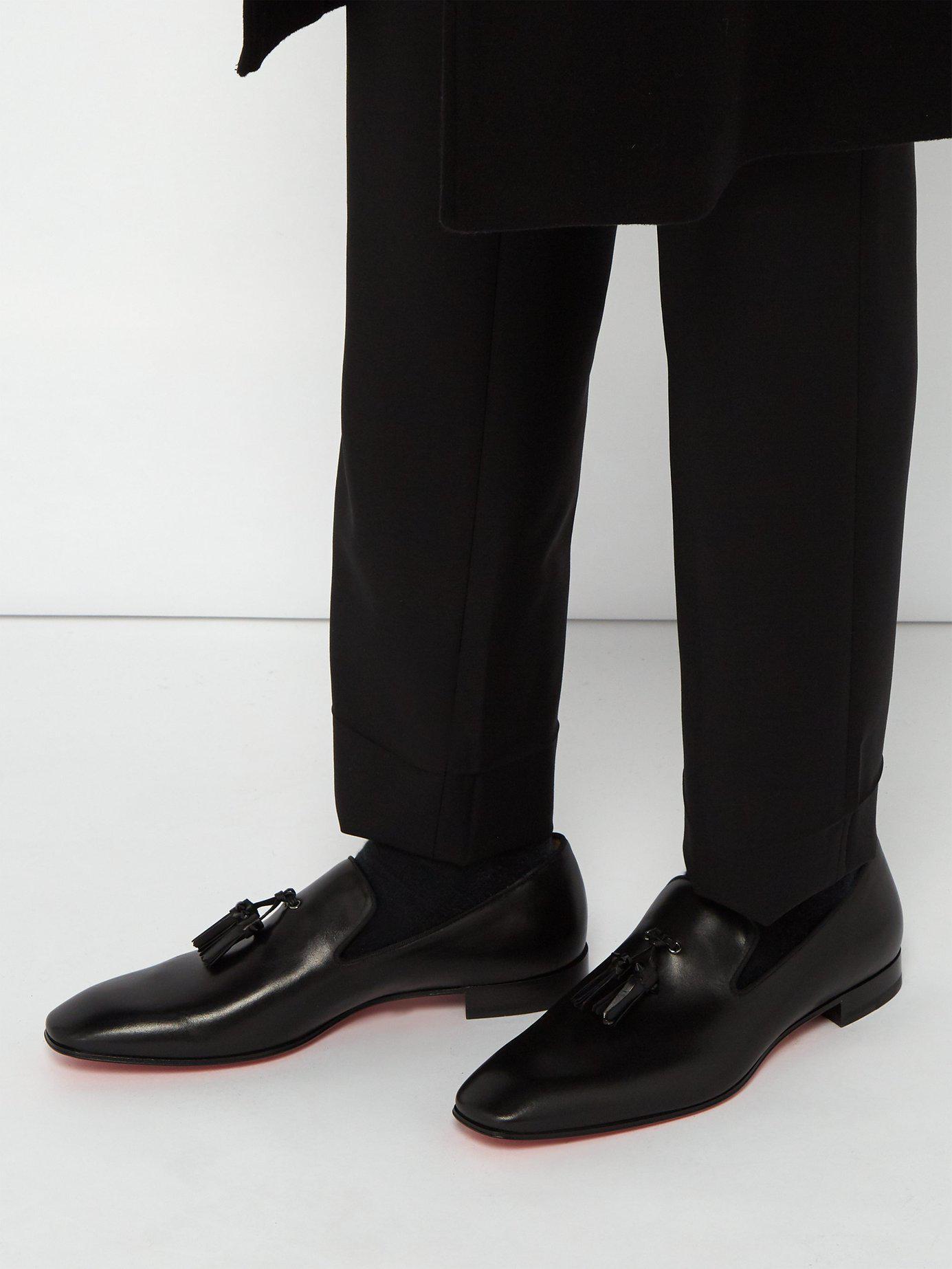 04808e96171 Lyst - Christian Louboutin Dandelion Tassel Embellished Leather Loafer in  Black for Men