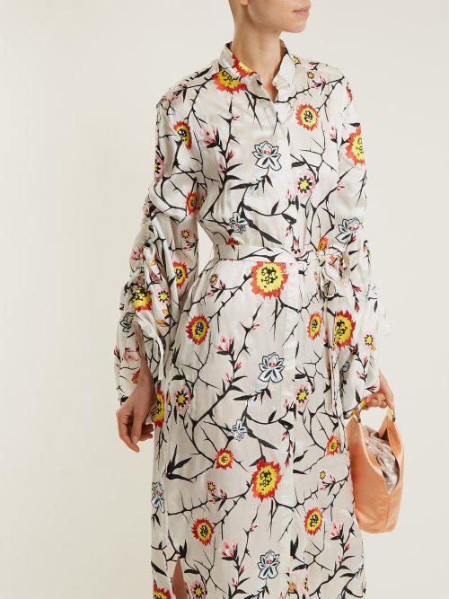 Charday floral-embroidered silk dress Osman HC4kiZFVhV
