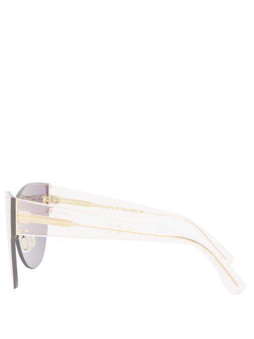 4978b4a77561 Retrosuperfuture Screen Kim Mirrored Cat-eye Sunglasses in Pink - Lyst