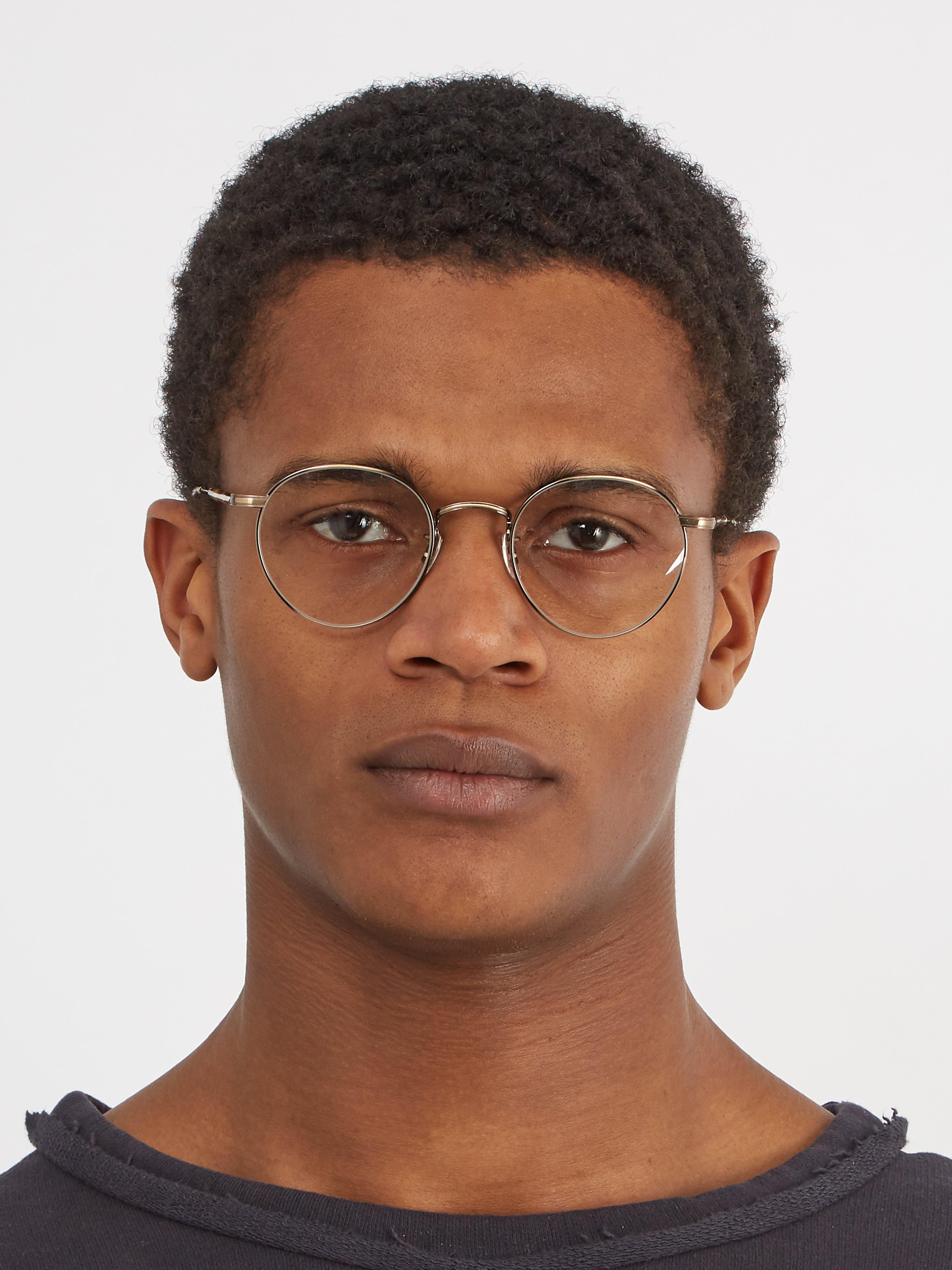 58cc5b8085 Garrett Leight Wilson 49 Round Frame Glasses in Metallic for Men - Lyst