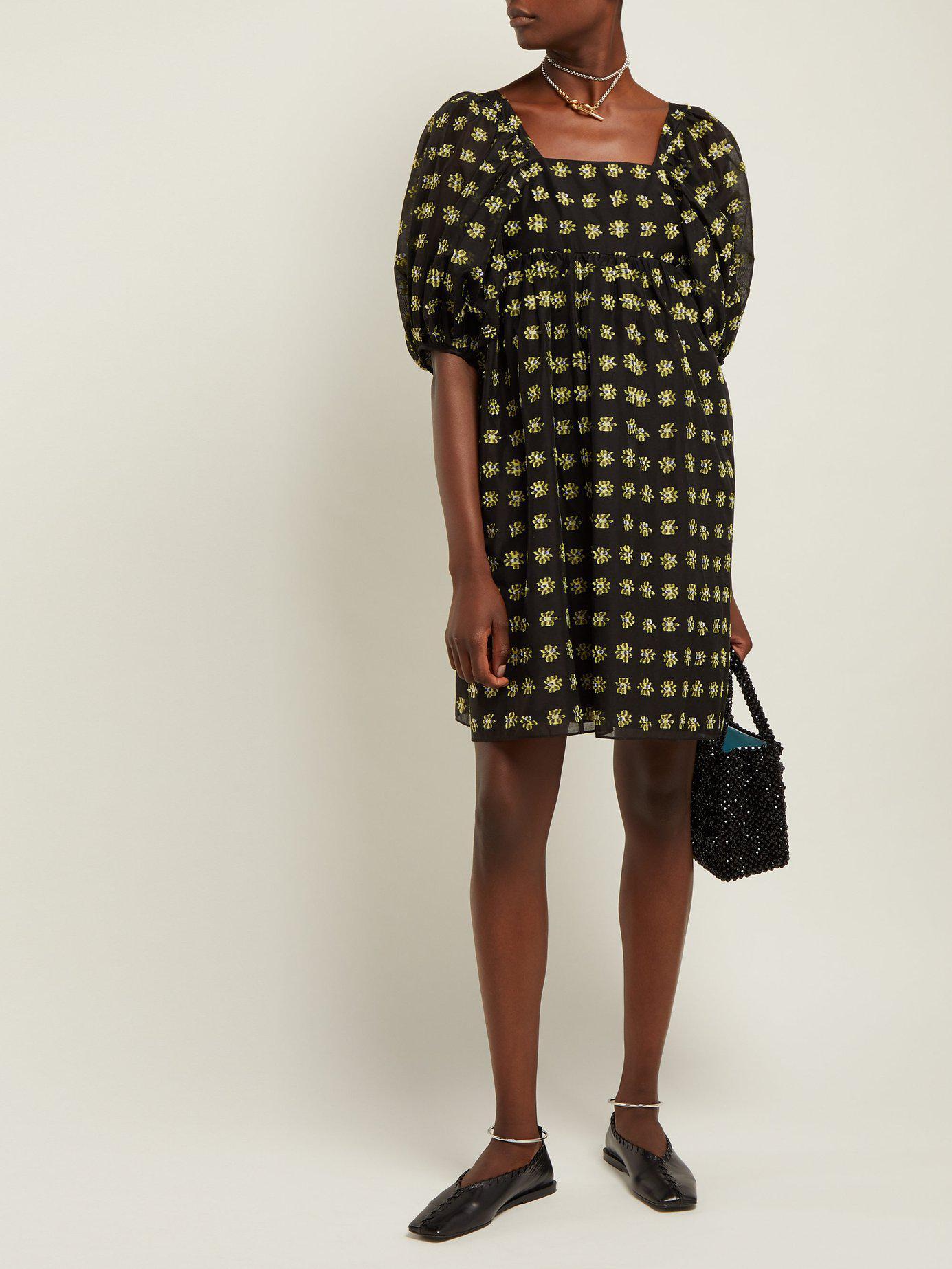 Lyst - Cecilie Bahnsen Phoenix Floral Fil Coupé Midi Dress in Black cacb93c6f