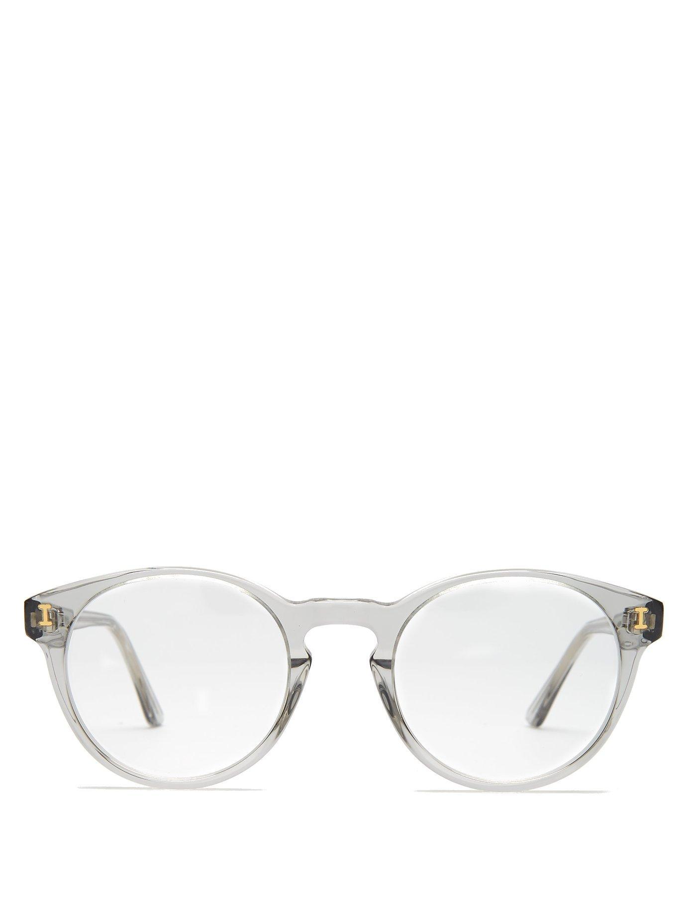 2995f0ffeb58 Lyst - Illesteva Vita Round Frame Glasses in Gray for Men