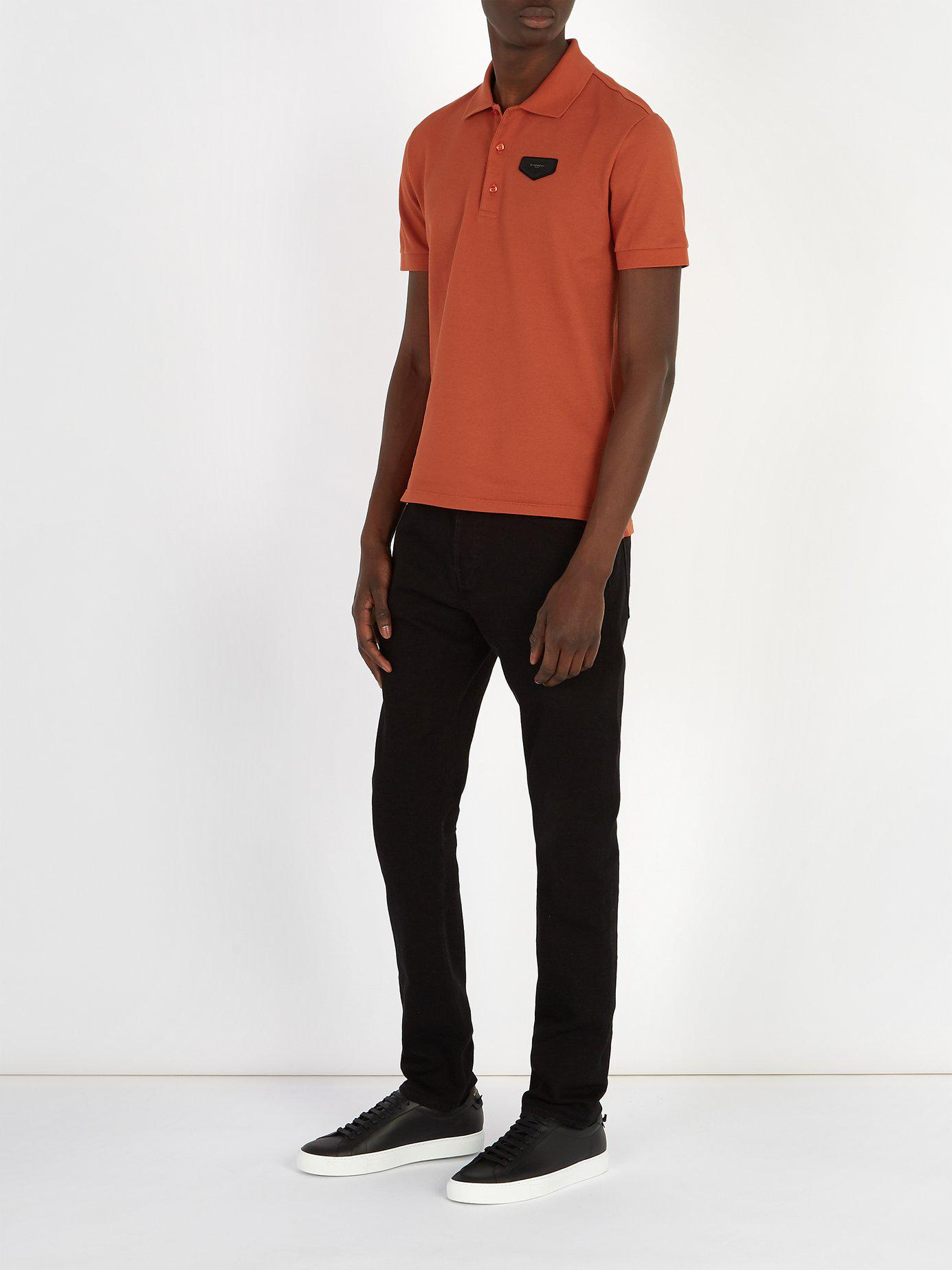 b98a89974 Givenchy Antigona Patch Polo Shirt in Orange for Men - Lyst