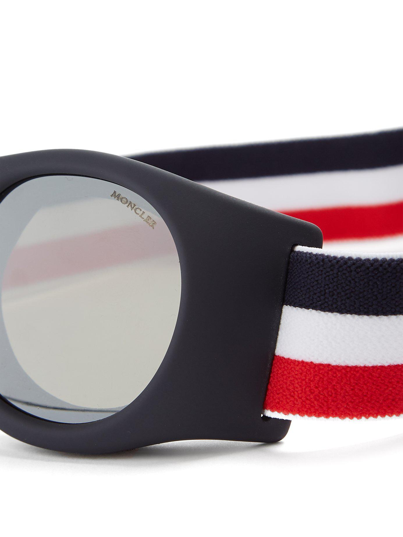 31dfa5463f8 Lyst - Moncler Round-frame Ski goggles in Blue for Men