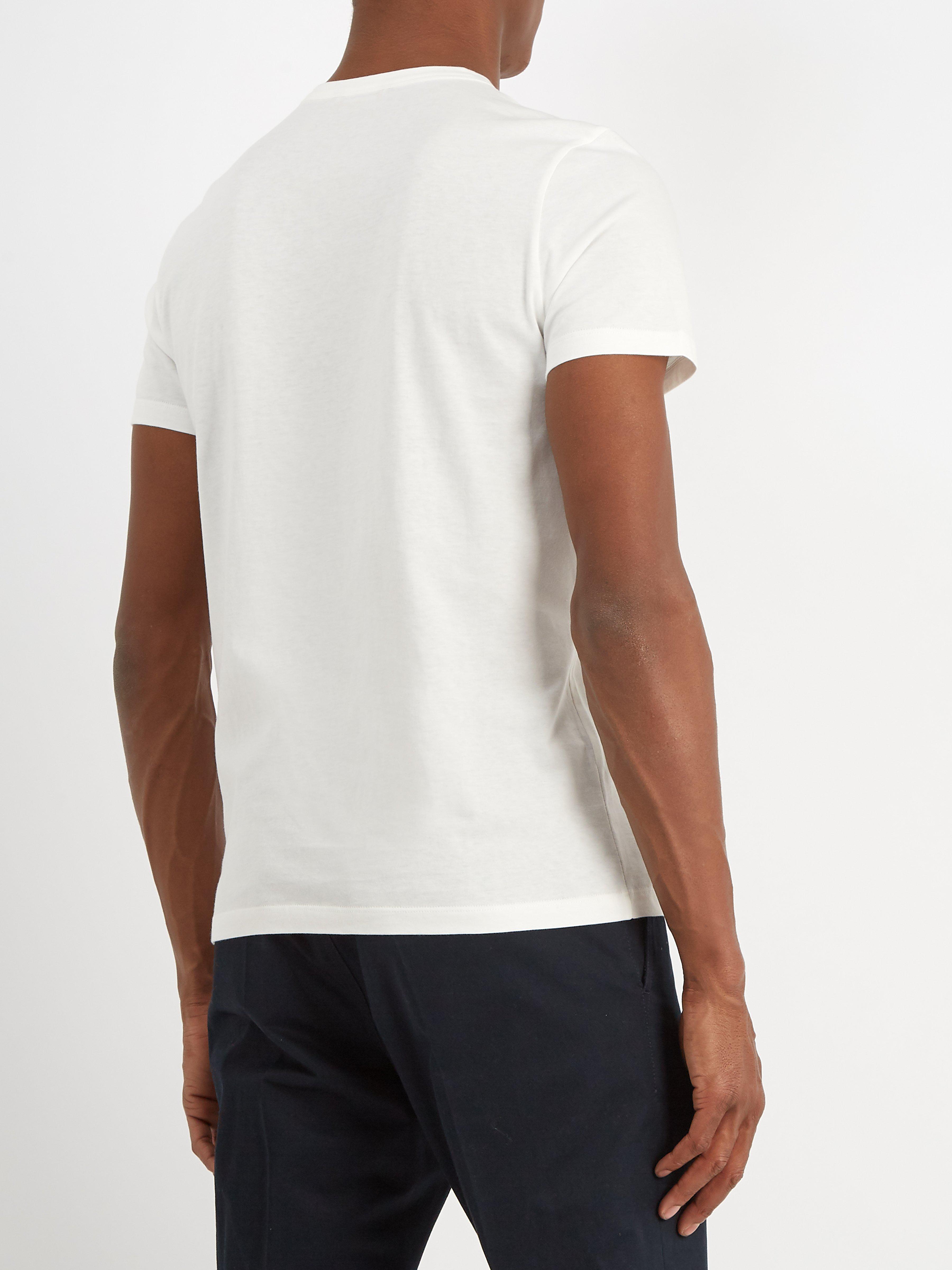 e3d00d23ce8d White For T View Shirt Fullscreen Cotton Men Stripe Lyst Print ...