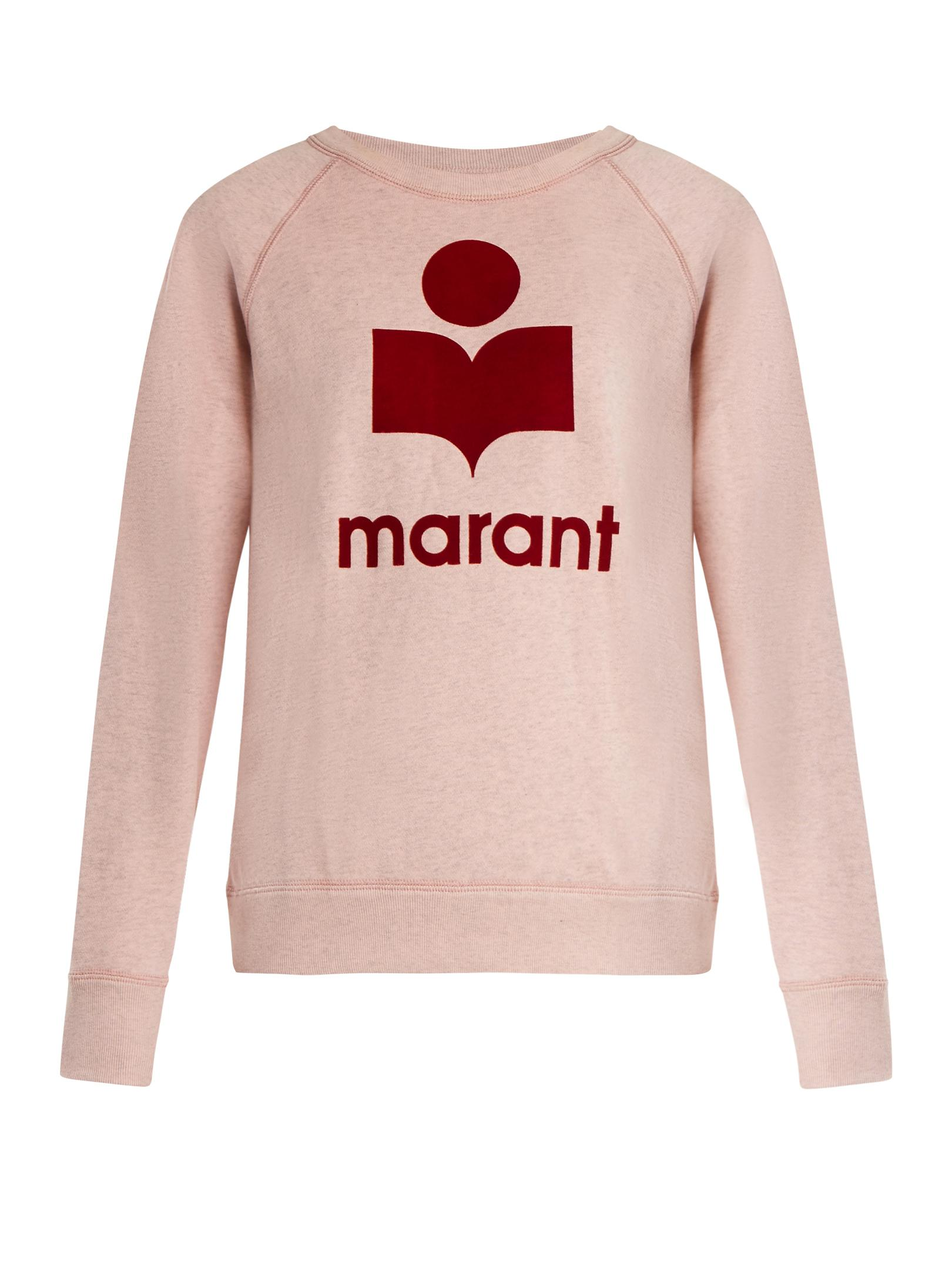 logo hooded sweatshirt - Pink & Purple Isabel Marant Free Shipping View From China Sale Online FKQdVlWz