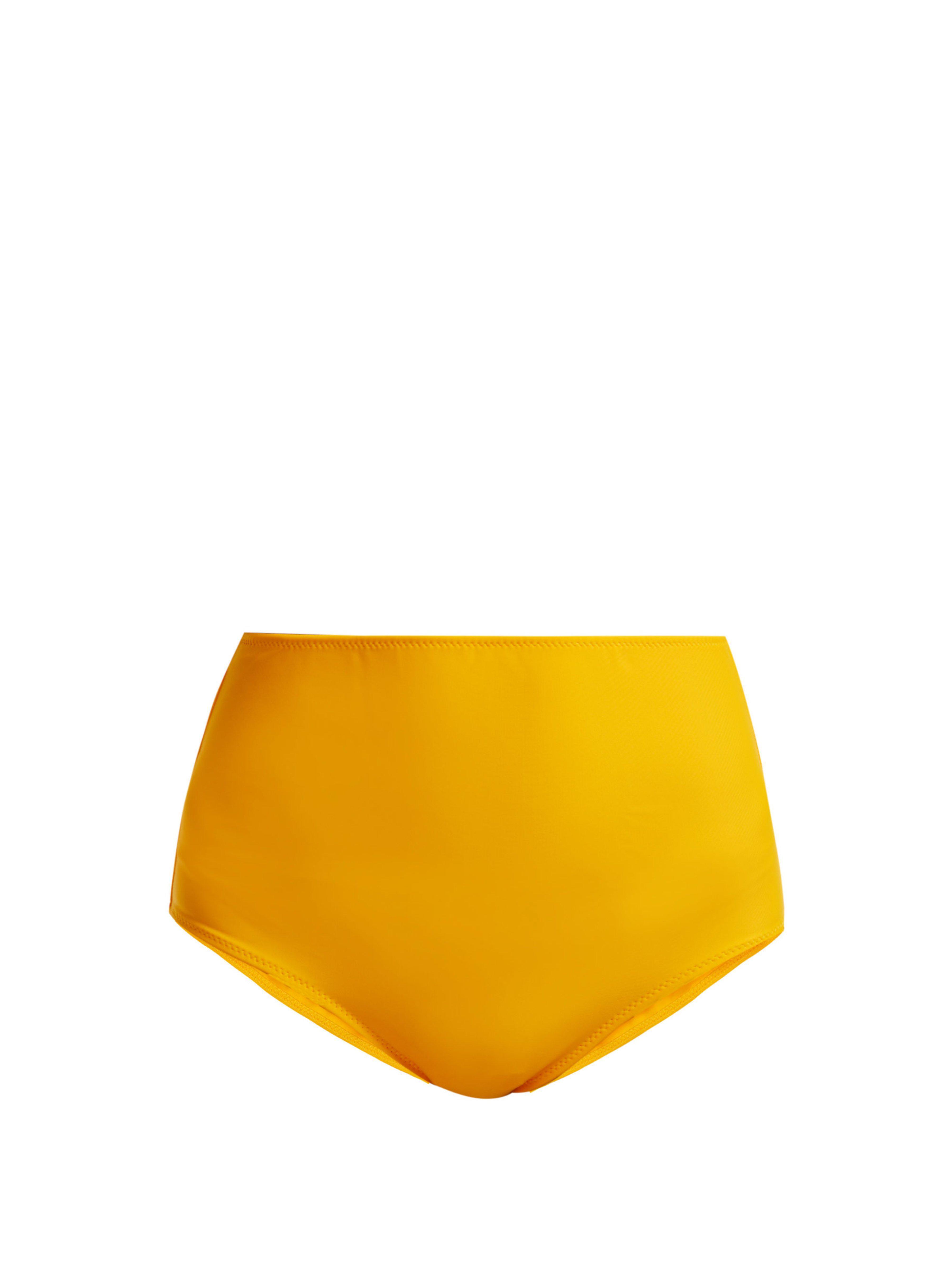 d9ade106257 Araks Mallory High Waisted Bikini Briefs in Yellow - Lyst