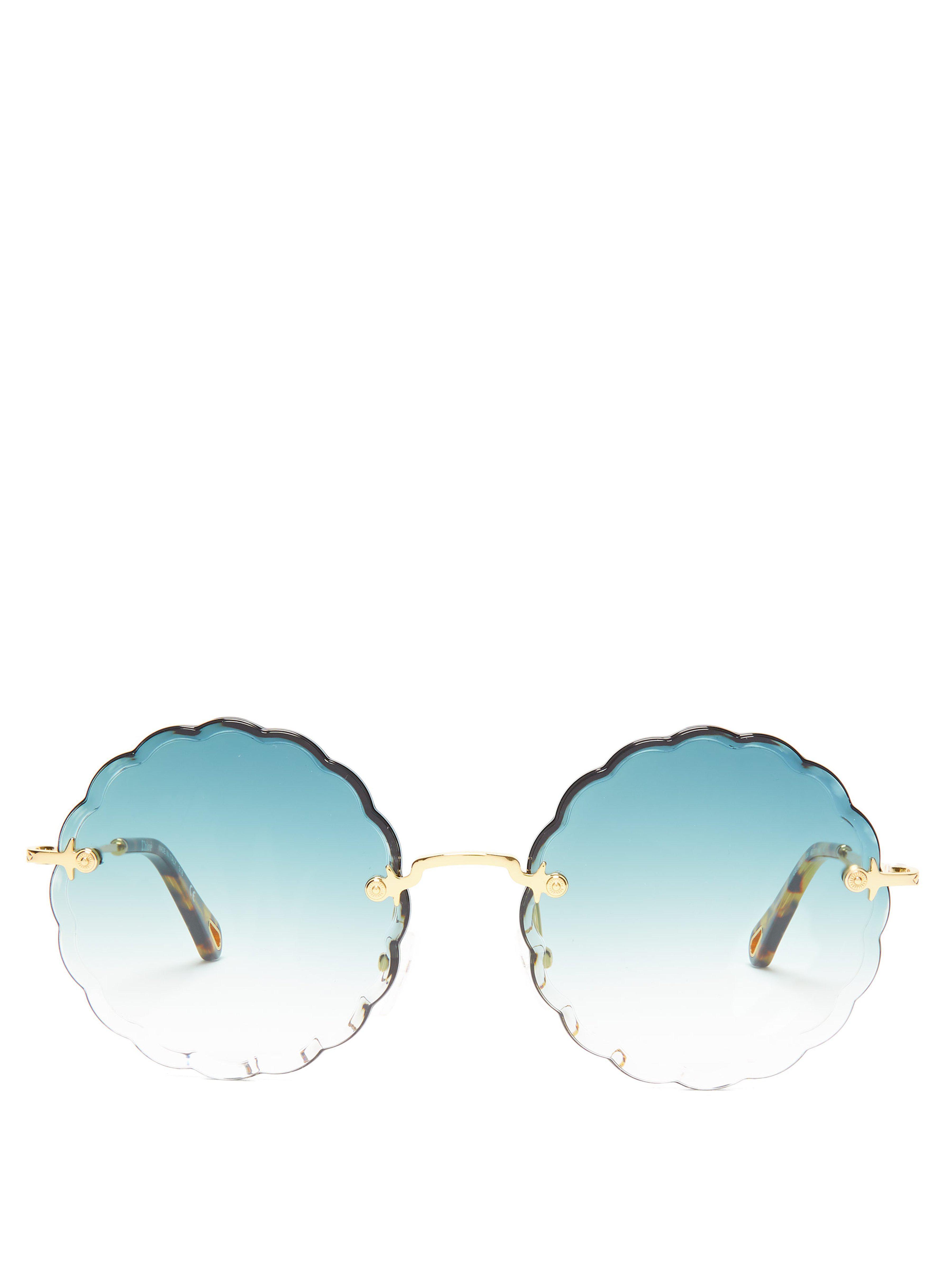 40cf0f8119f8c6 Lyst - Lunettes de soleil rondes Rosie Chloé