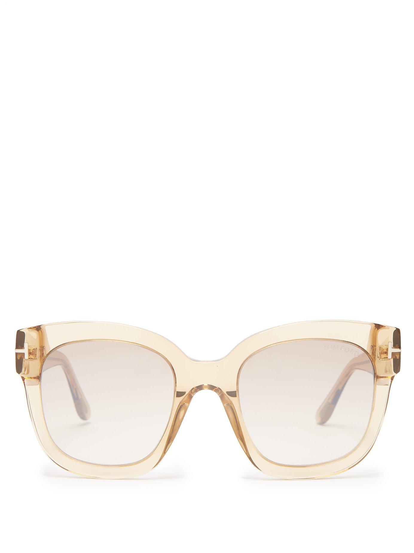 69c661adf0 Tom Ford Beatrix Acetate Sunglasses in Brown - Lyst
