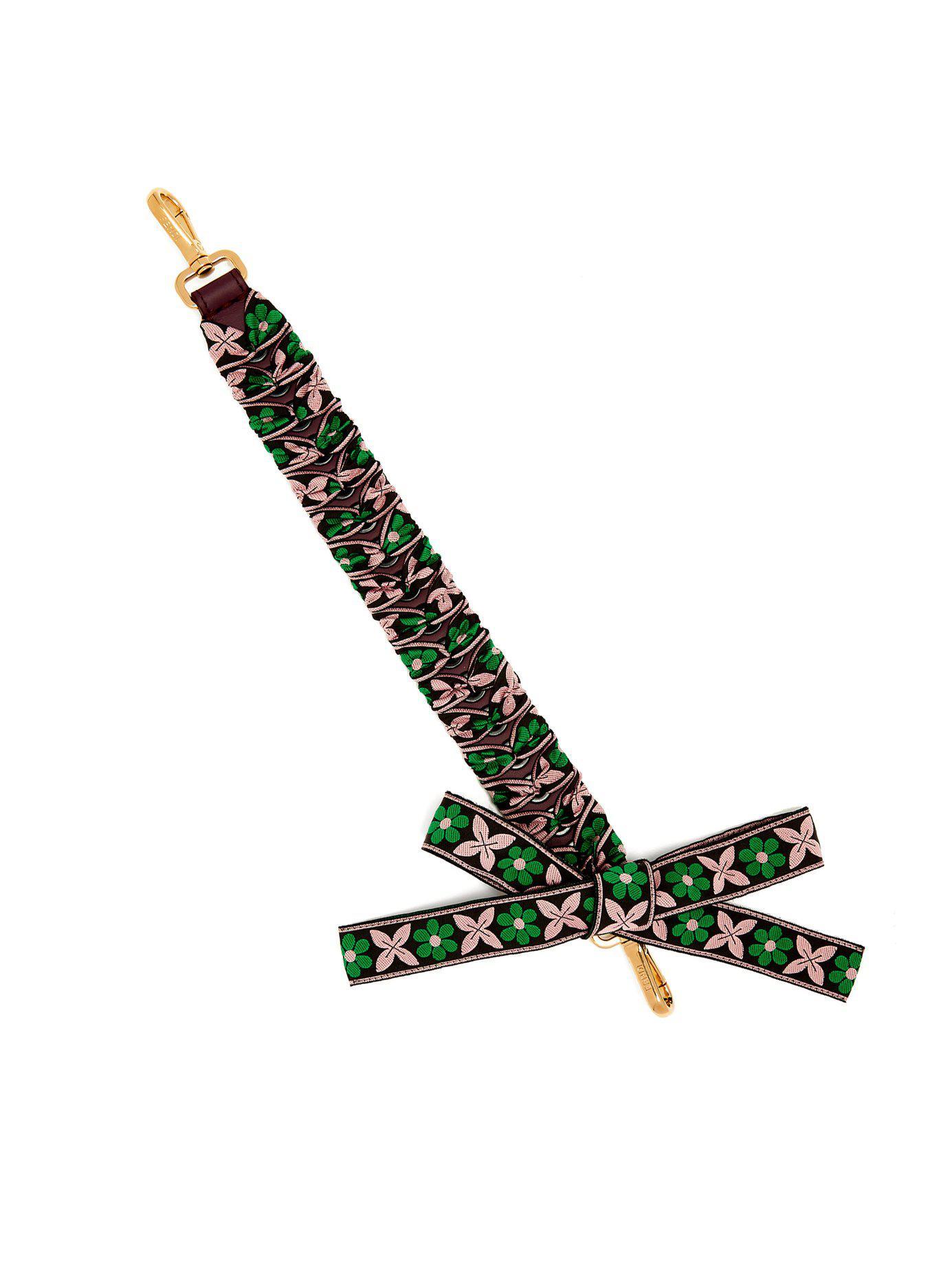 Fendi Strap You whipstitched-ribbon short bag strap XiSst