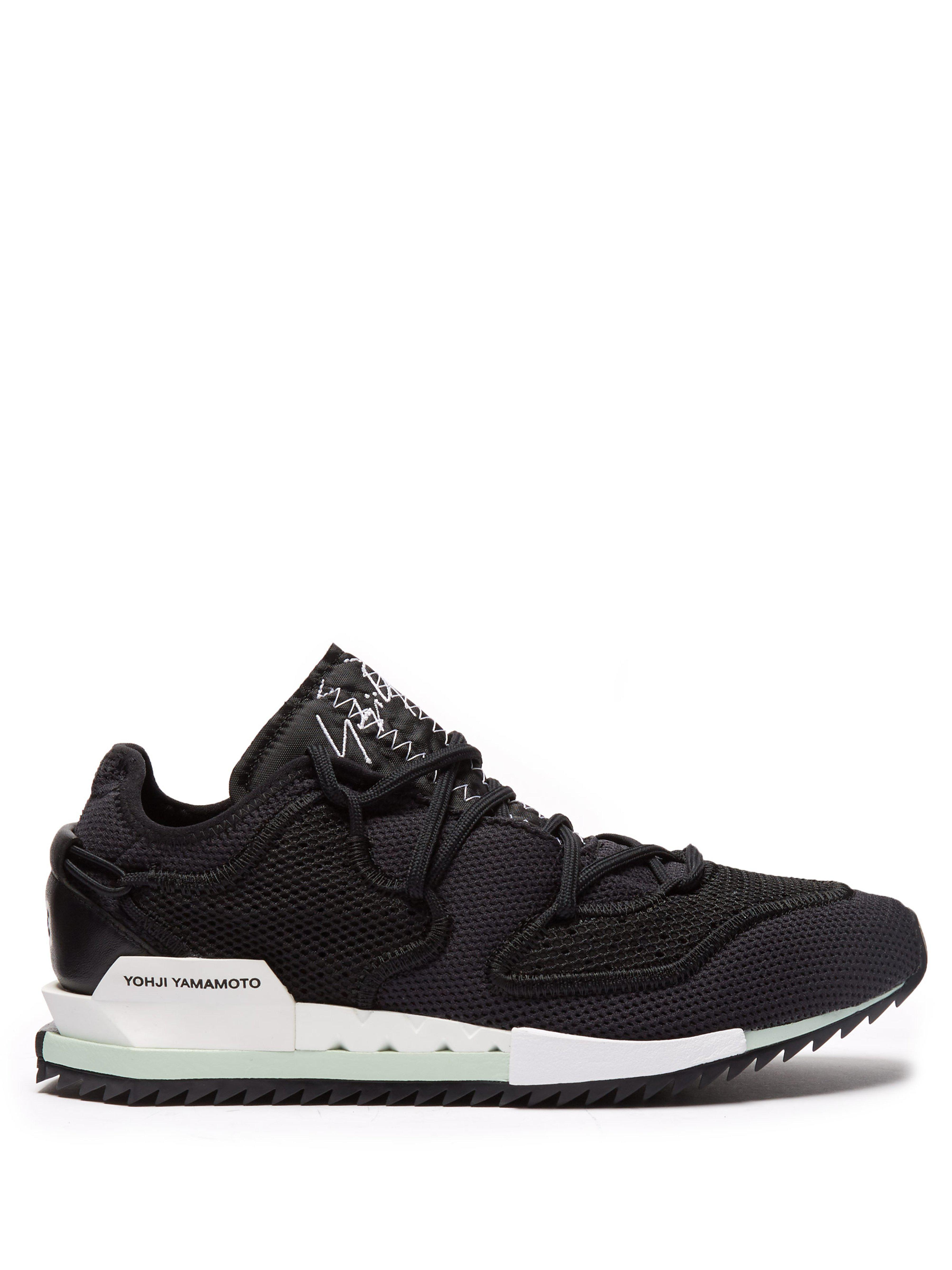 36e888e8a Y-3 Harigane Low Top Mesh Trainers in Black for Men - Lyst