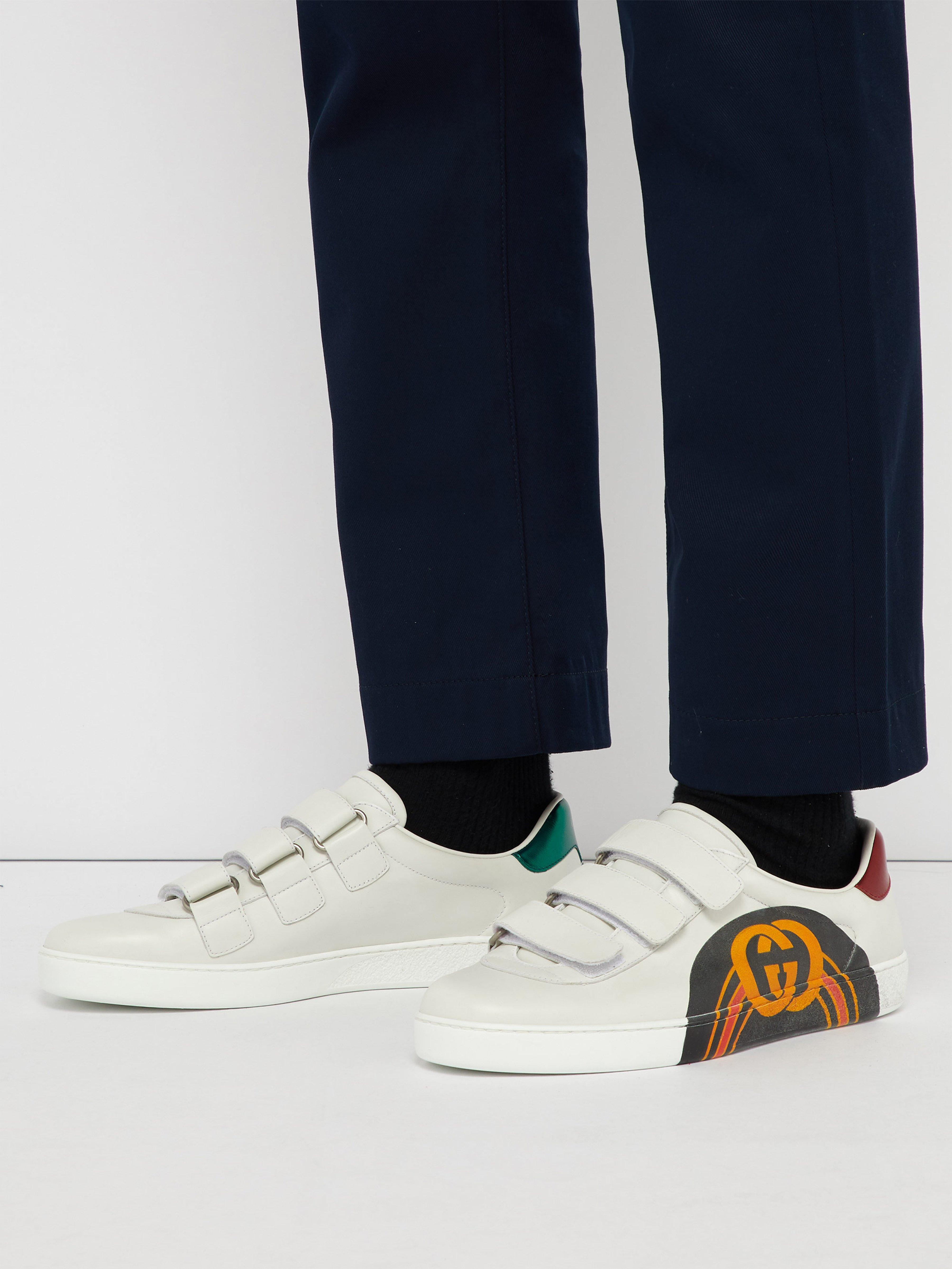 fd8ad0e9d72 Gucci - Multicolor New Ace Gg Print Leather Trainers for Men - Lyst. View  fullscreen