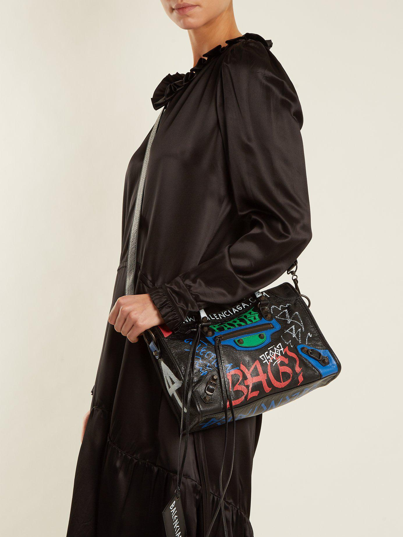 Lyst - Balenciaga Classic City S Bag Graffiti in Black 50ef32136f01e