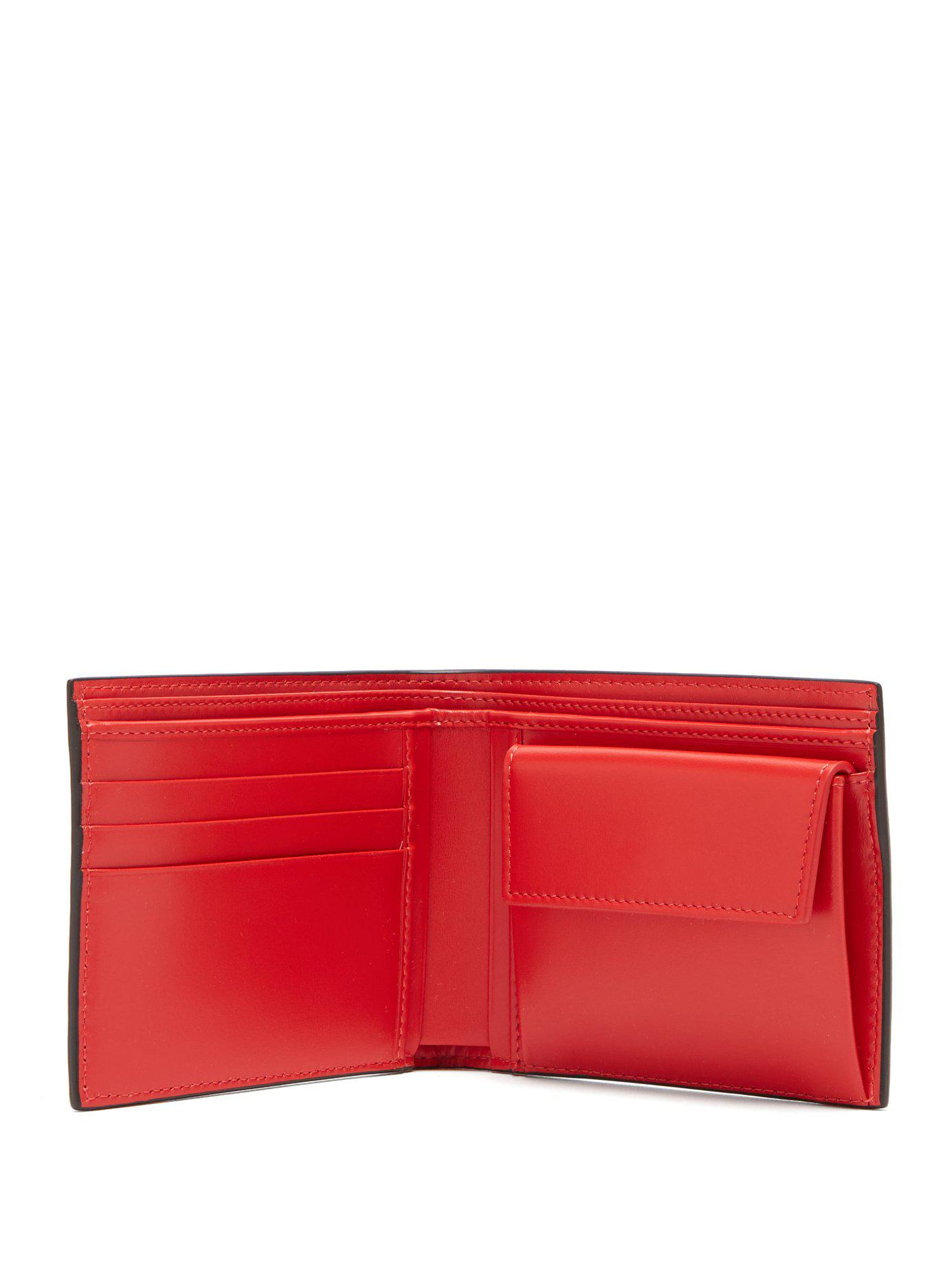 a75af1396aa Lyst - Christian Louboutin Spike And Leather Bi Fold Wallet for Men