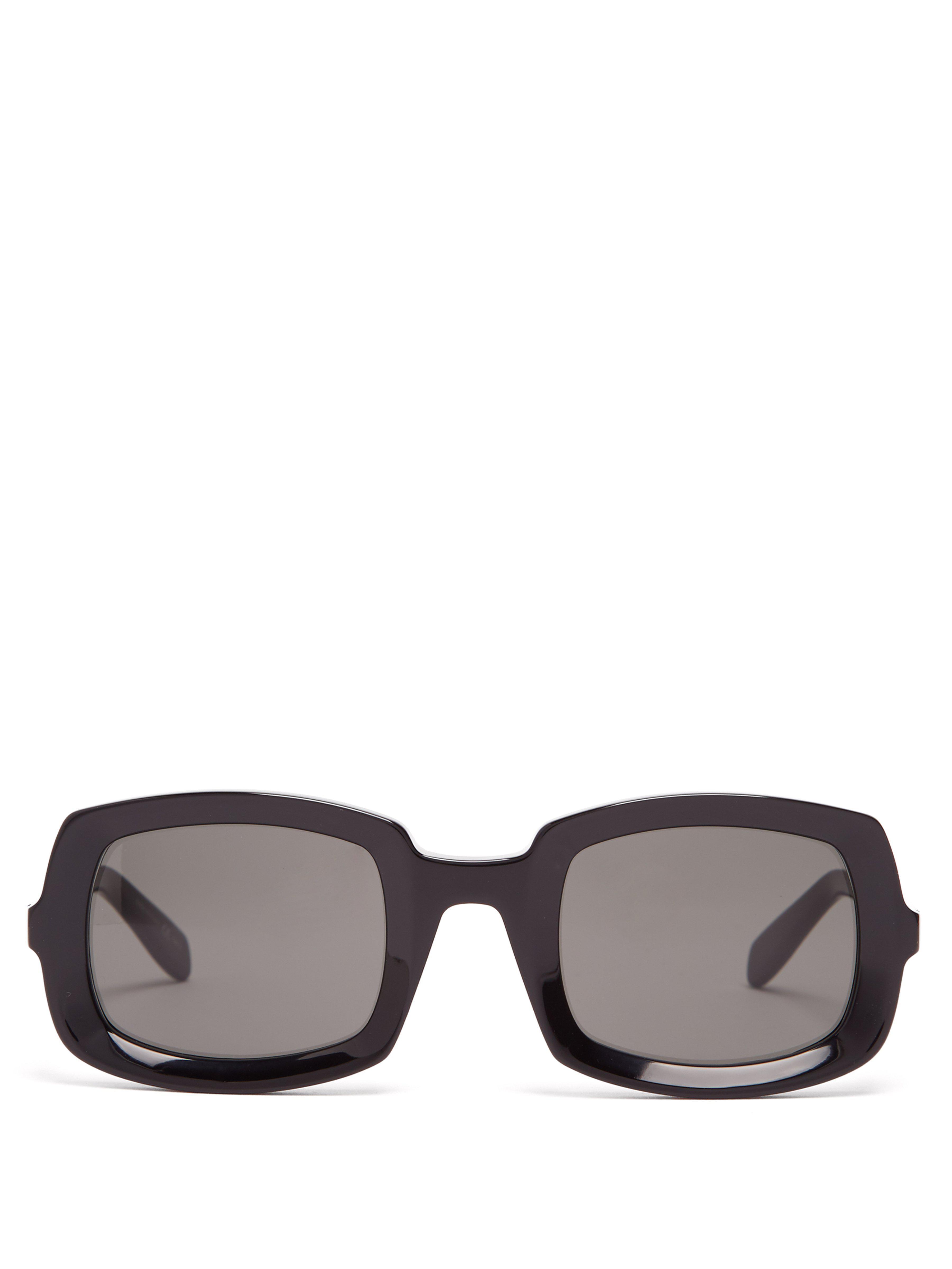 1052b177de Saint Laurent Square Acetate Sunglasses in Black for Men - Lyst