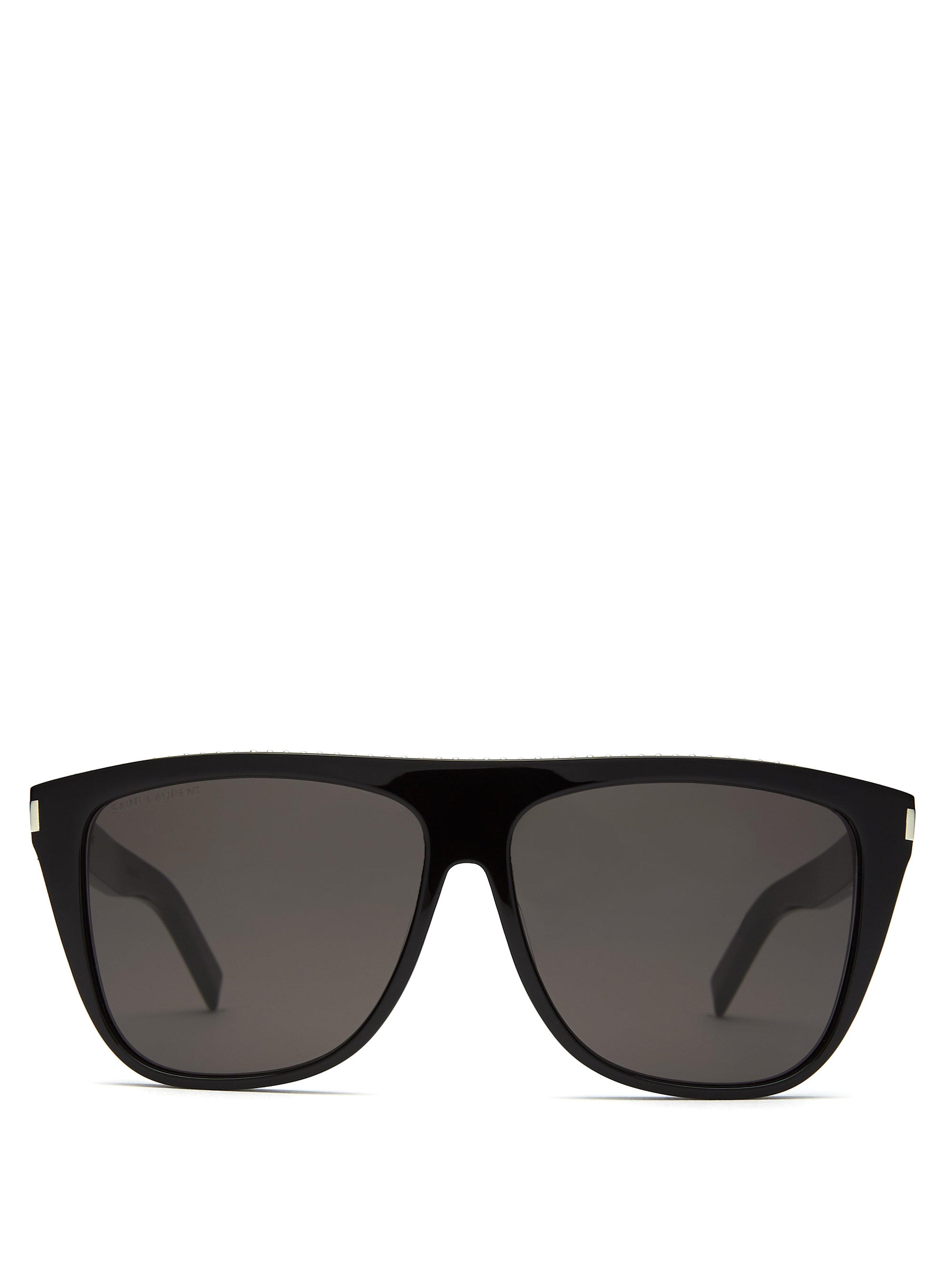 da34e7b5f097 Saint Laurent D Frame Studded Acetate Sunglasses in Black for Men - Lyst
