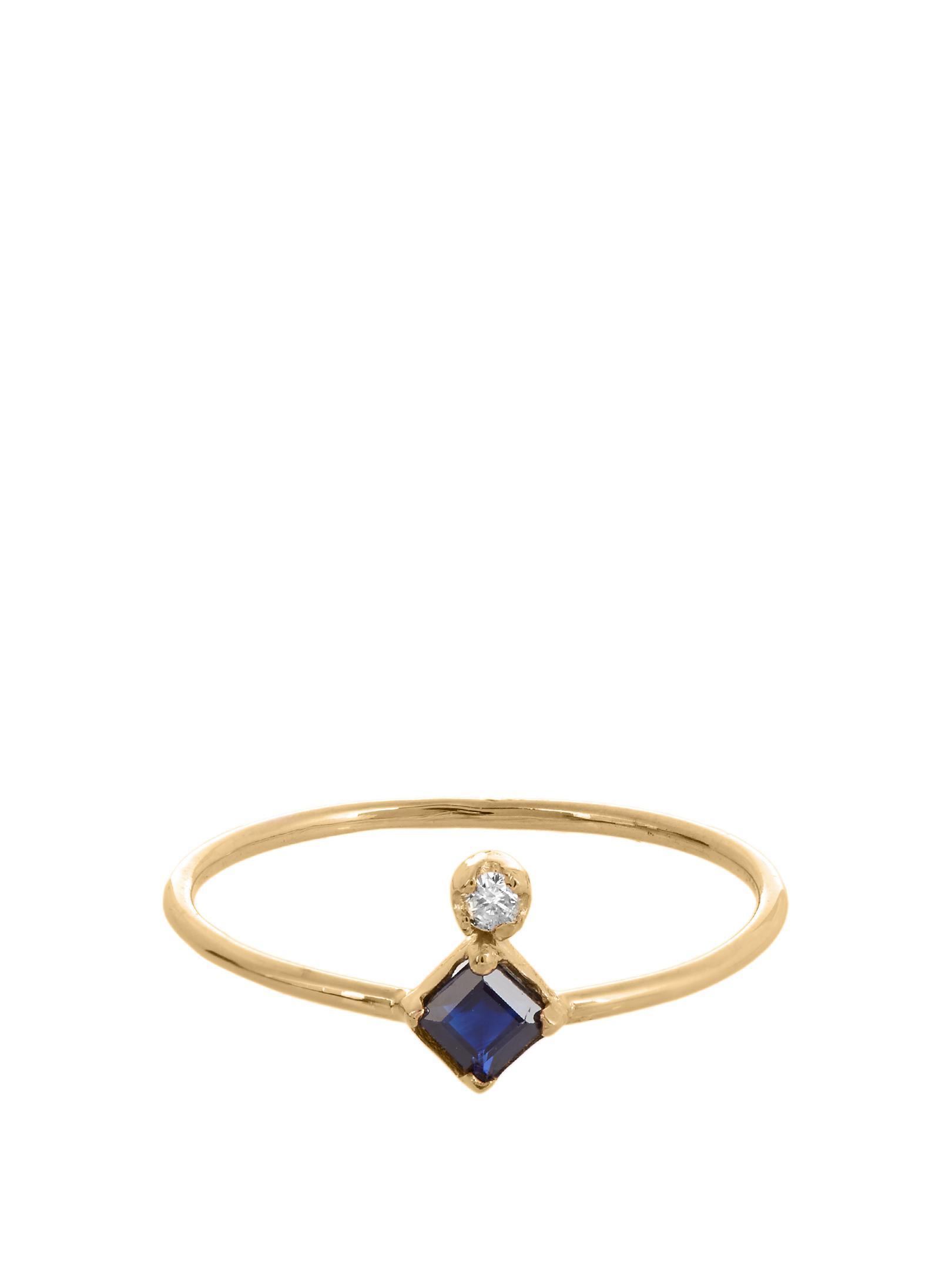 Loren Stewart Ruby, sapphire, topaz & yellow-gold ring