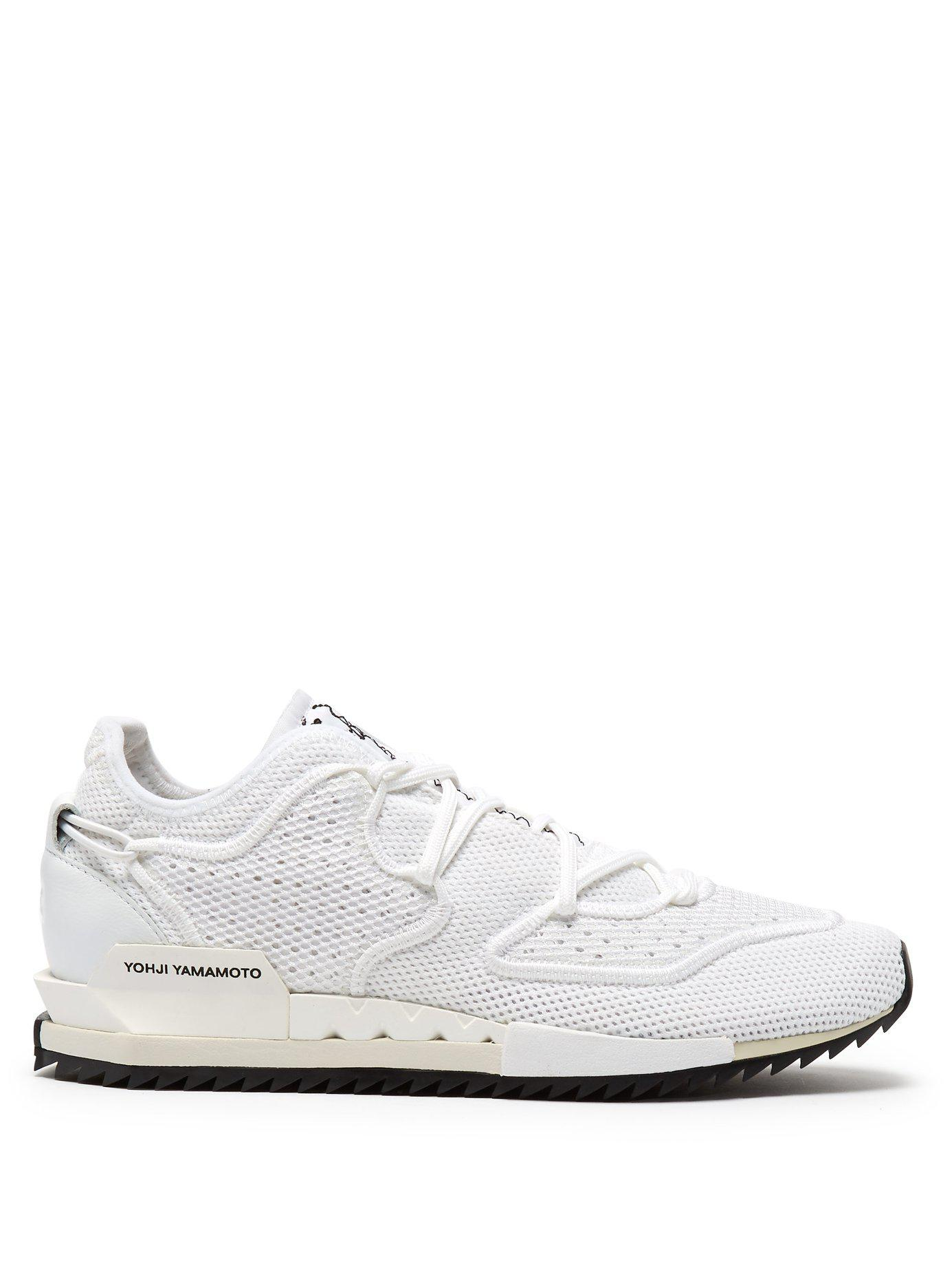 8051b1329bd66e Lyst - Y-3 Harigane Ii Low Top Mesh Trainers in White for Men