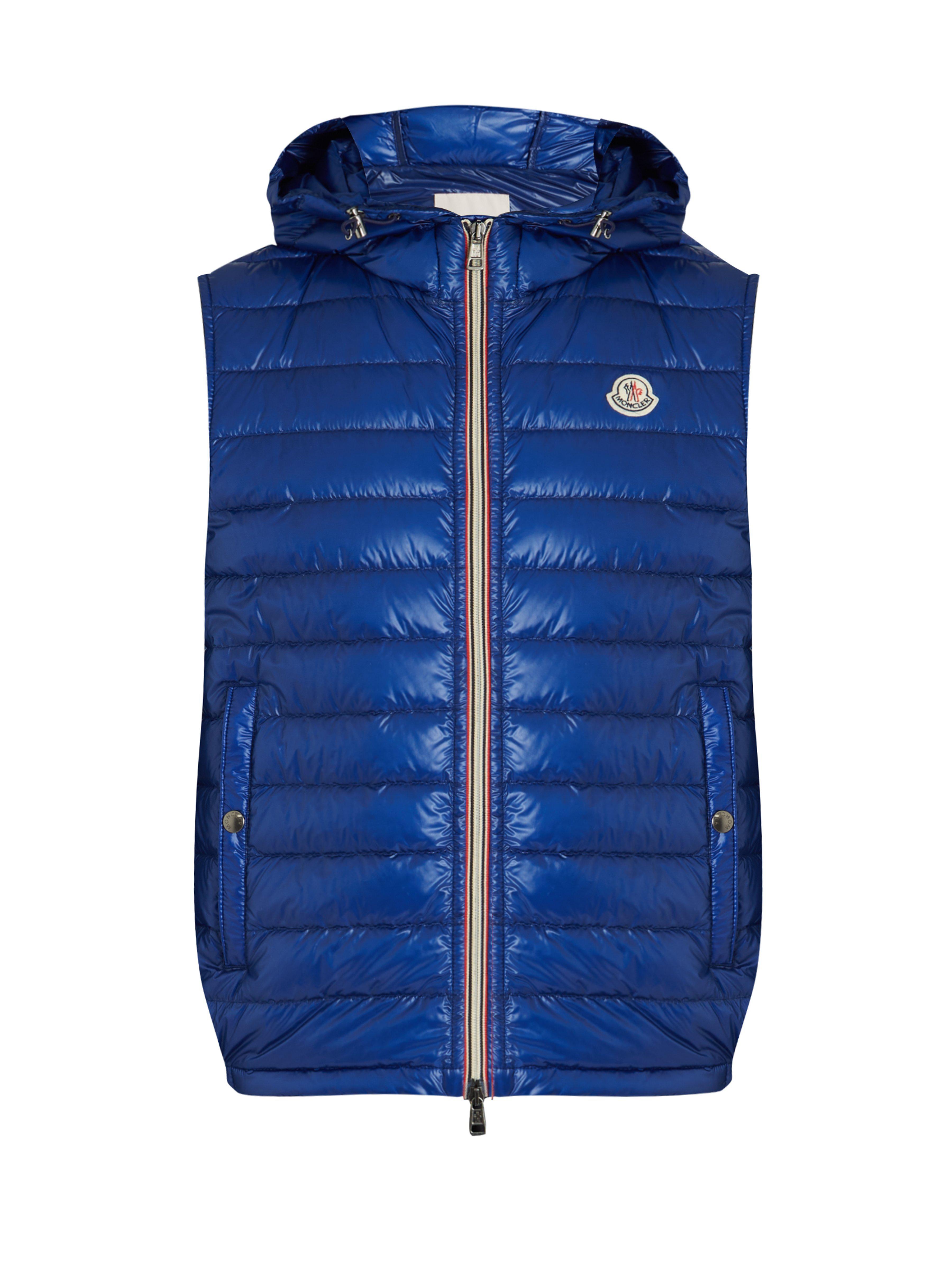 51b75597fcaf Lyst - Gilet en duvet matelassé Gien Moncler pour homme en coloris Bleu