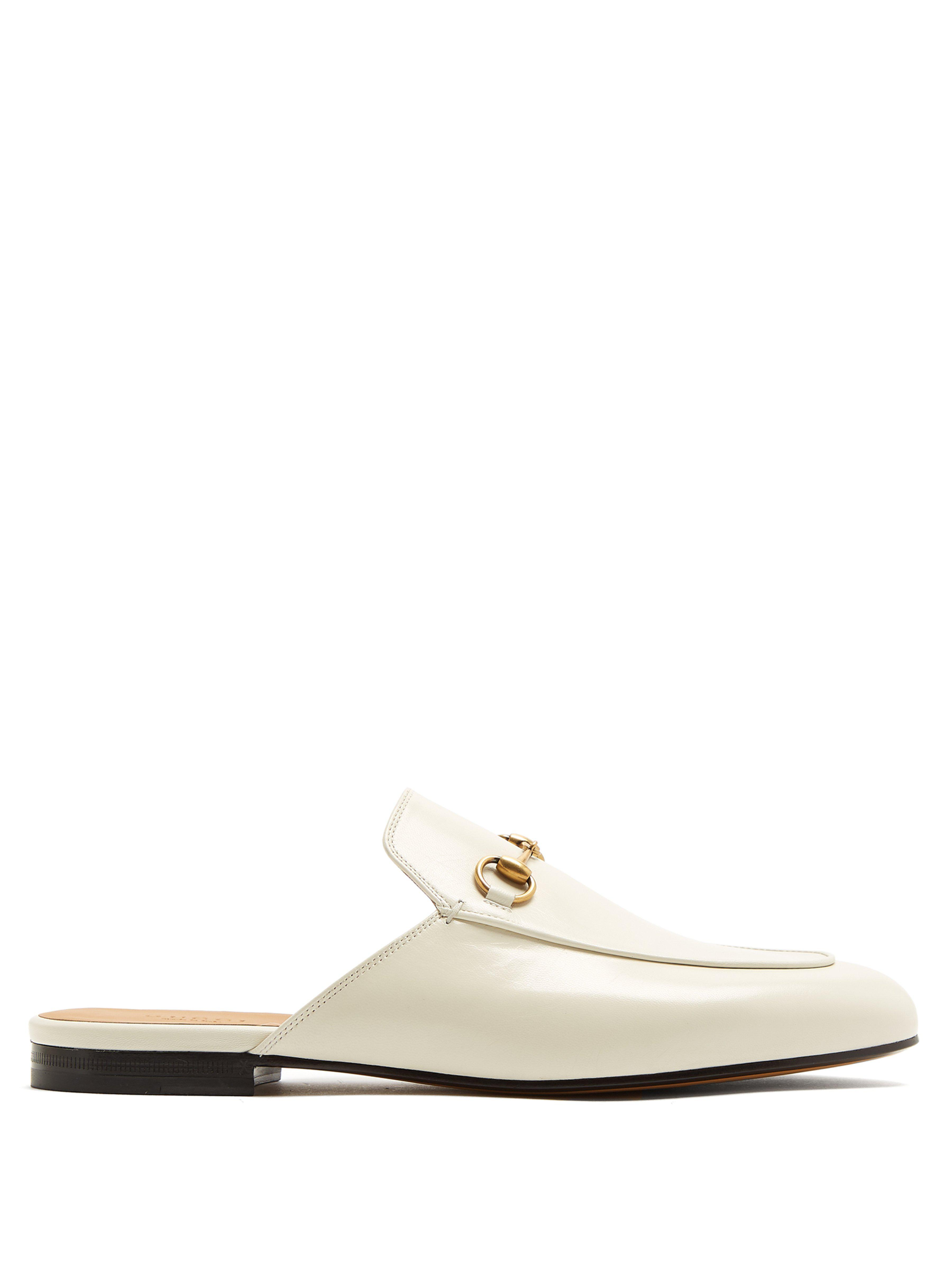 00b8b887afb Gucci Princetown Leather Backless Loafers - Save 25.20035618878005 ...