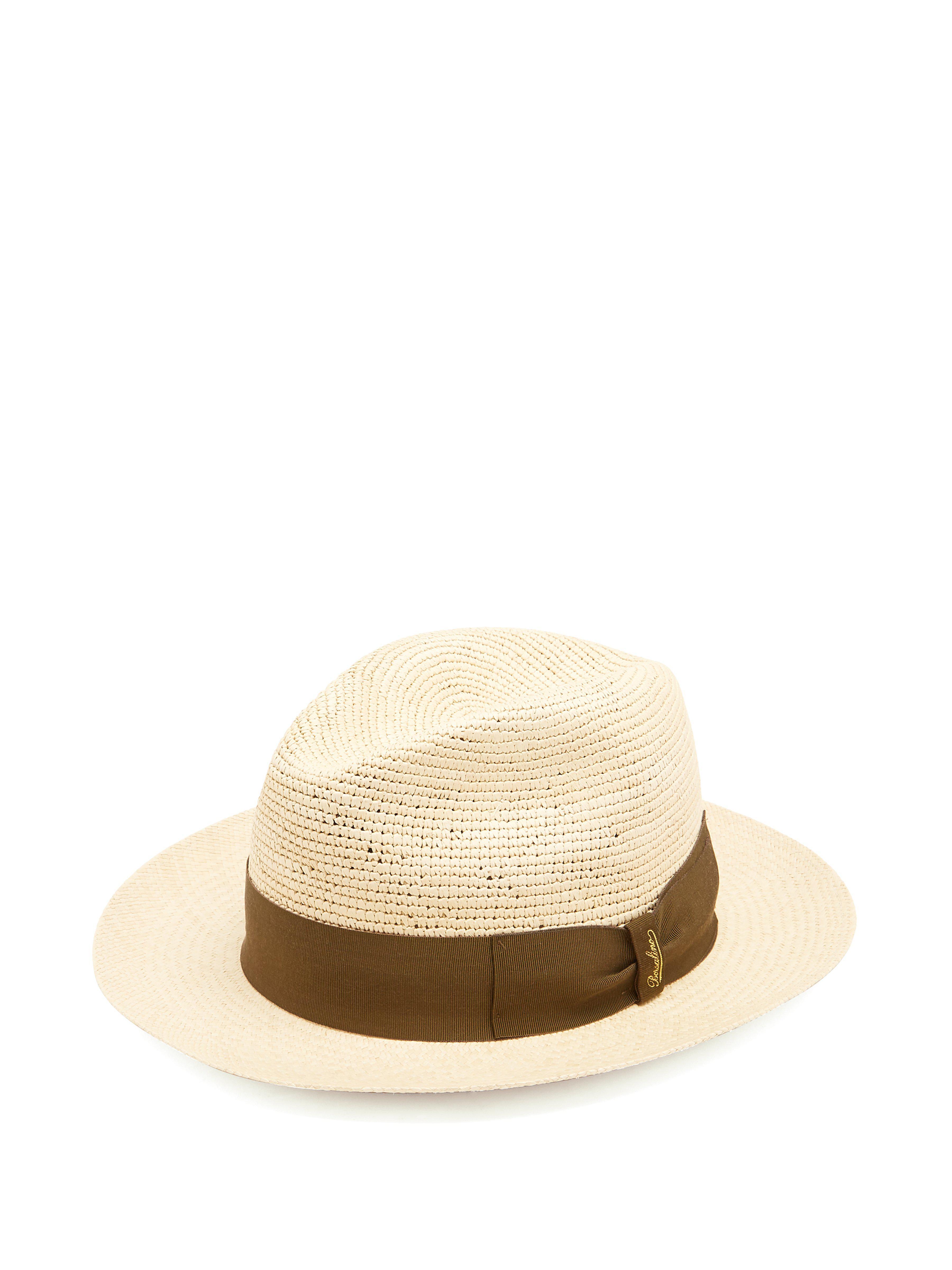 b0e69beb305 Borsalino Woven And Crochet Straw Panama Hat in Natural for Men - Lyst