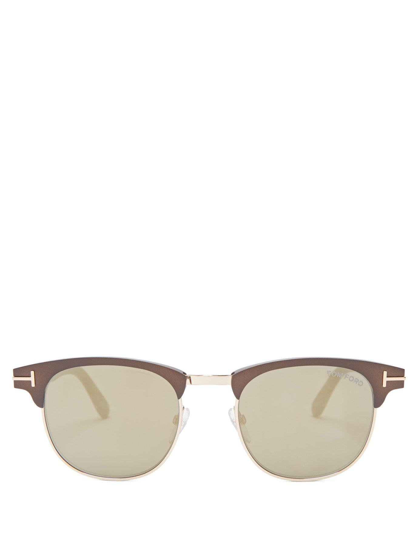 37d0aec0f3 Lyst - Tom Ford Laurent Sunglasses in Brown for Men