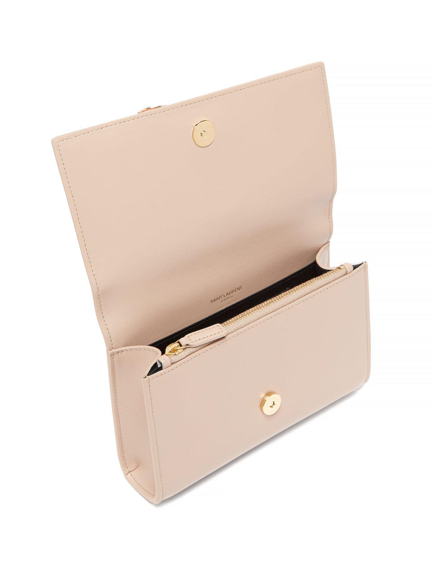 Saint Laurent - Natural Kate Leather Belt Bag - Lyst. View fullscreen 1ca36e8dfc99c