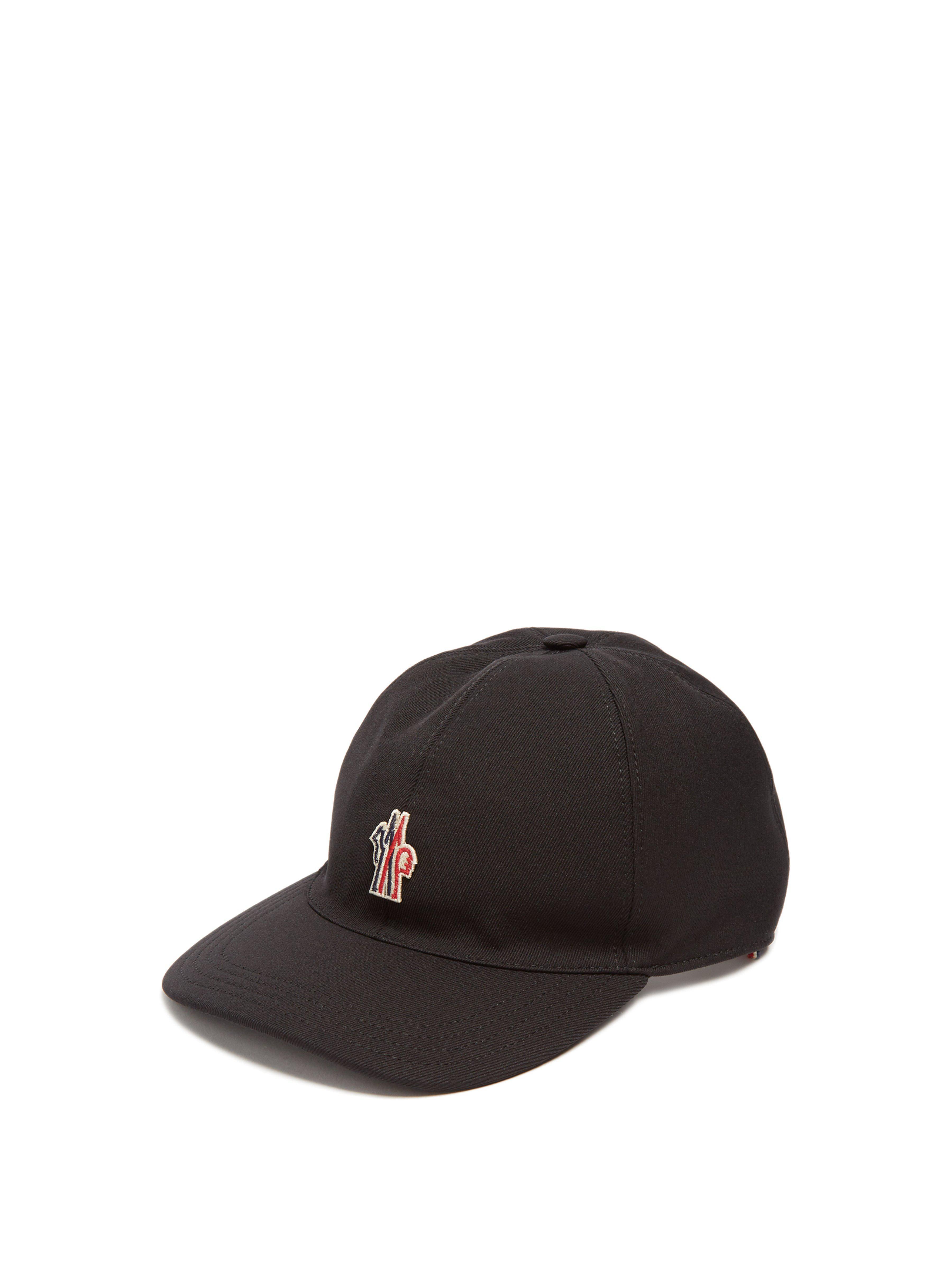 47d386210246c Moncler Grenoble Embroidered Logo Canvas Cap in Black for Men - Lyst