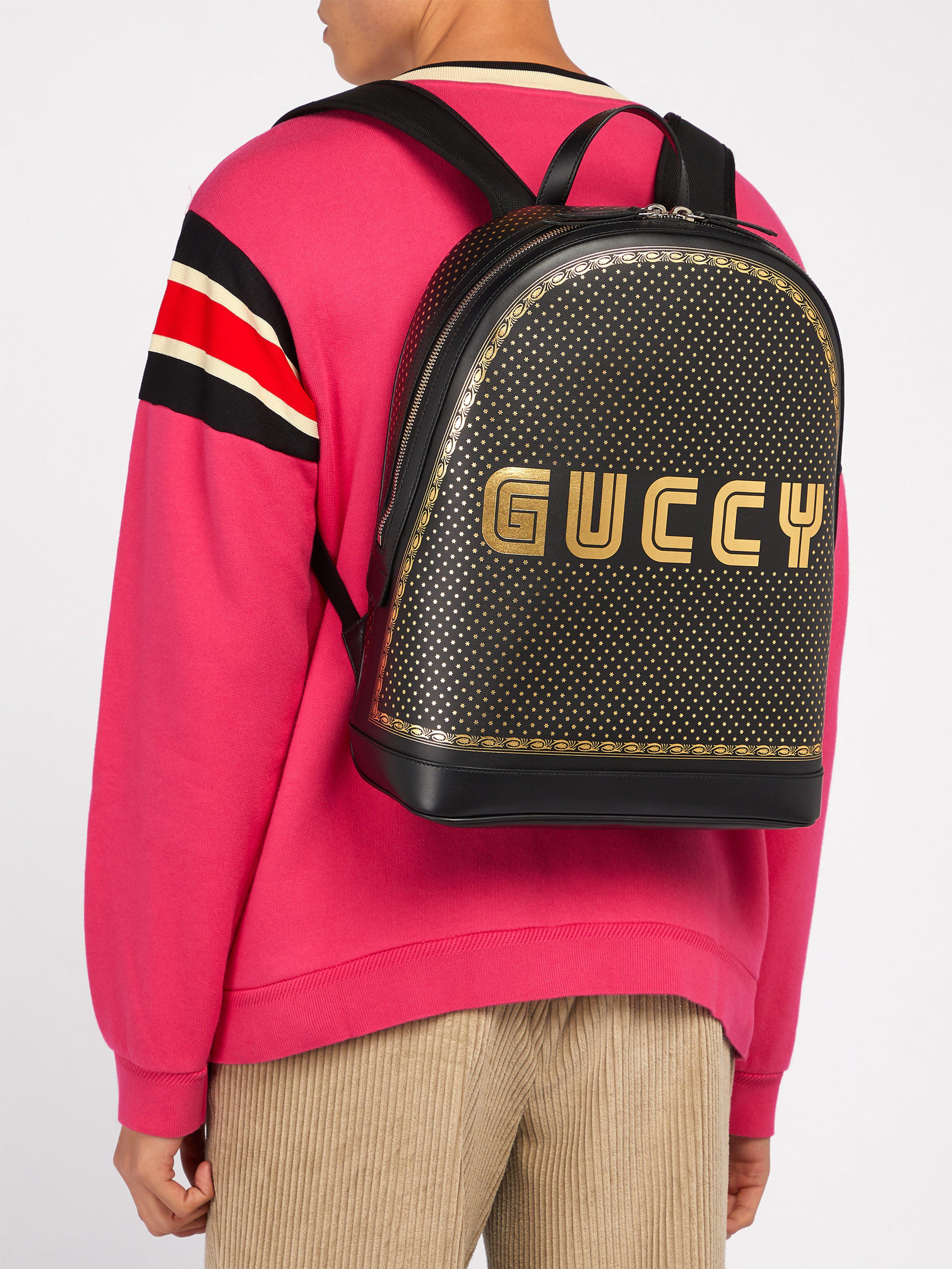 Lyst - Sac à dos en cuir Guccy Gucci pour homme en coloris Noir 3345323d8a5