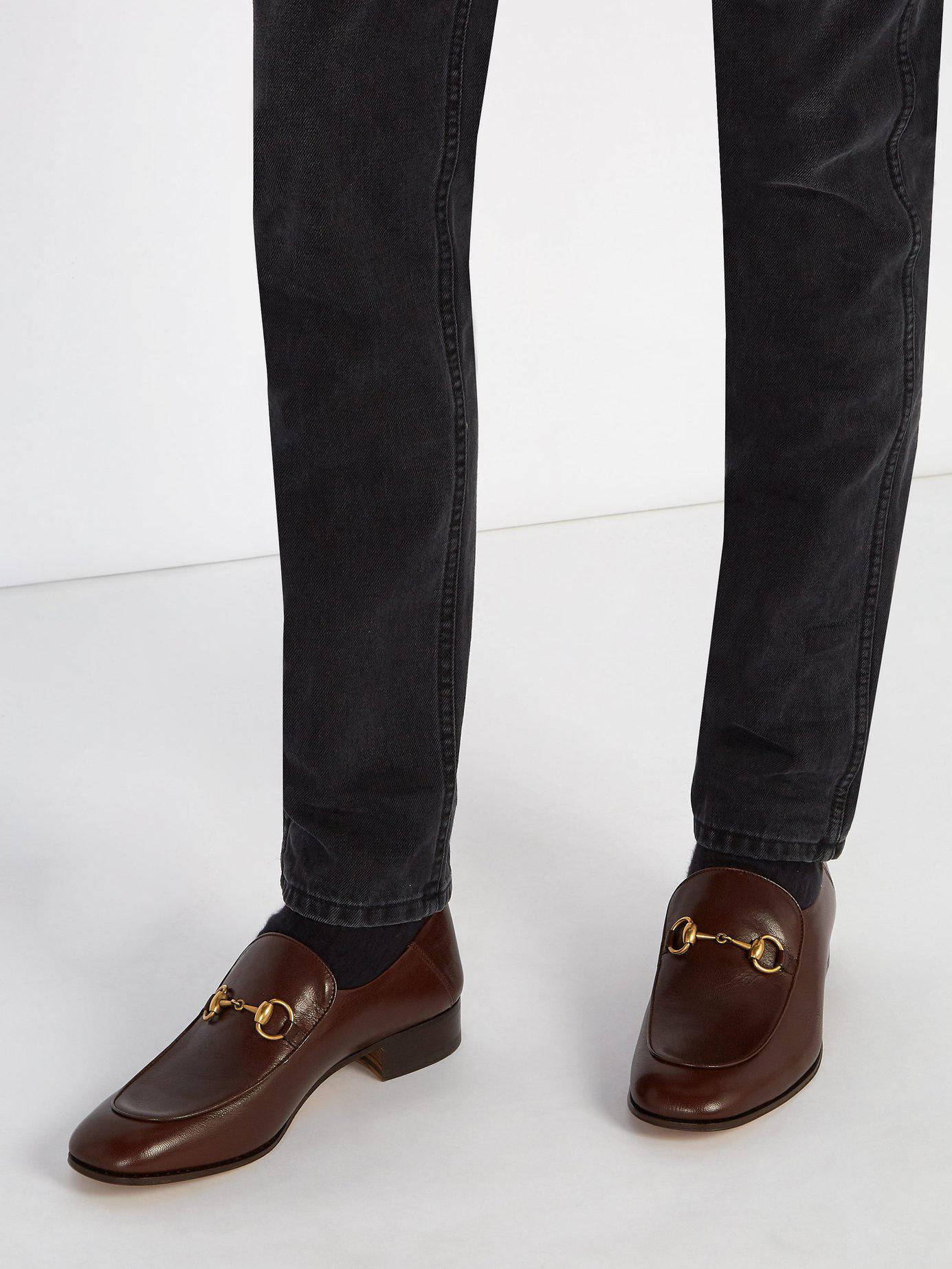 8ceff7bb47a Lyst - Gucci Mister New Leather Loafers in Brown for Men