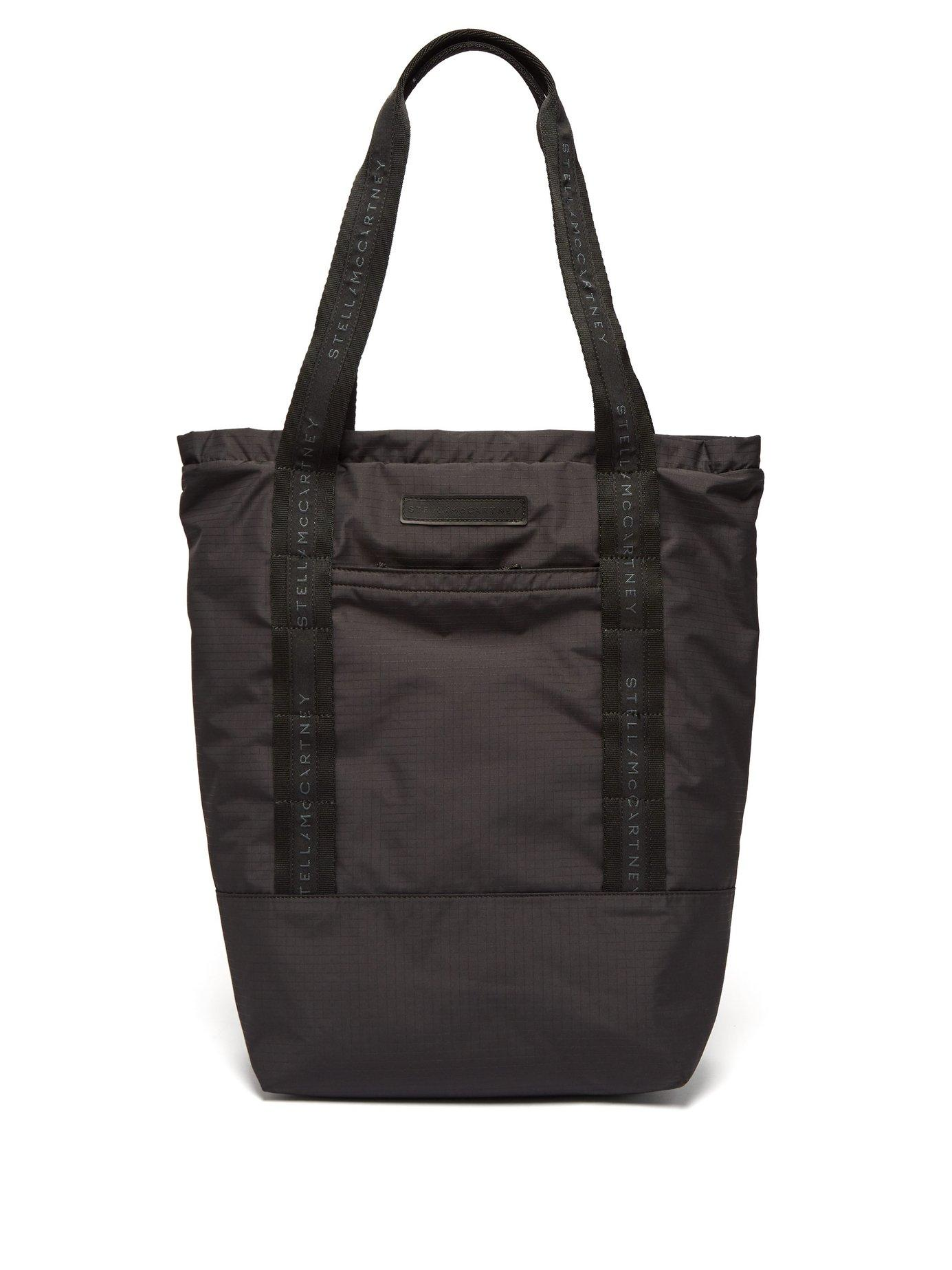 7b3283f9e196 Stella McCartney - Black Logo Embroidered Tote Bag for Men - Lyst. View  fullscreen