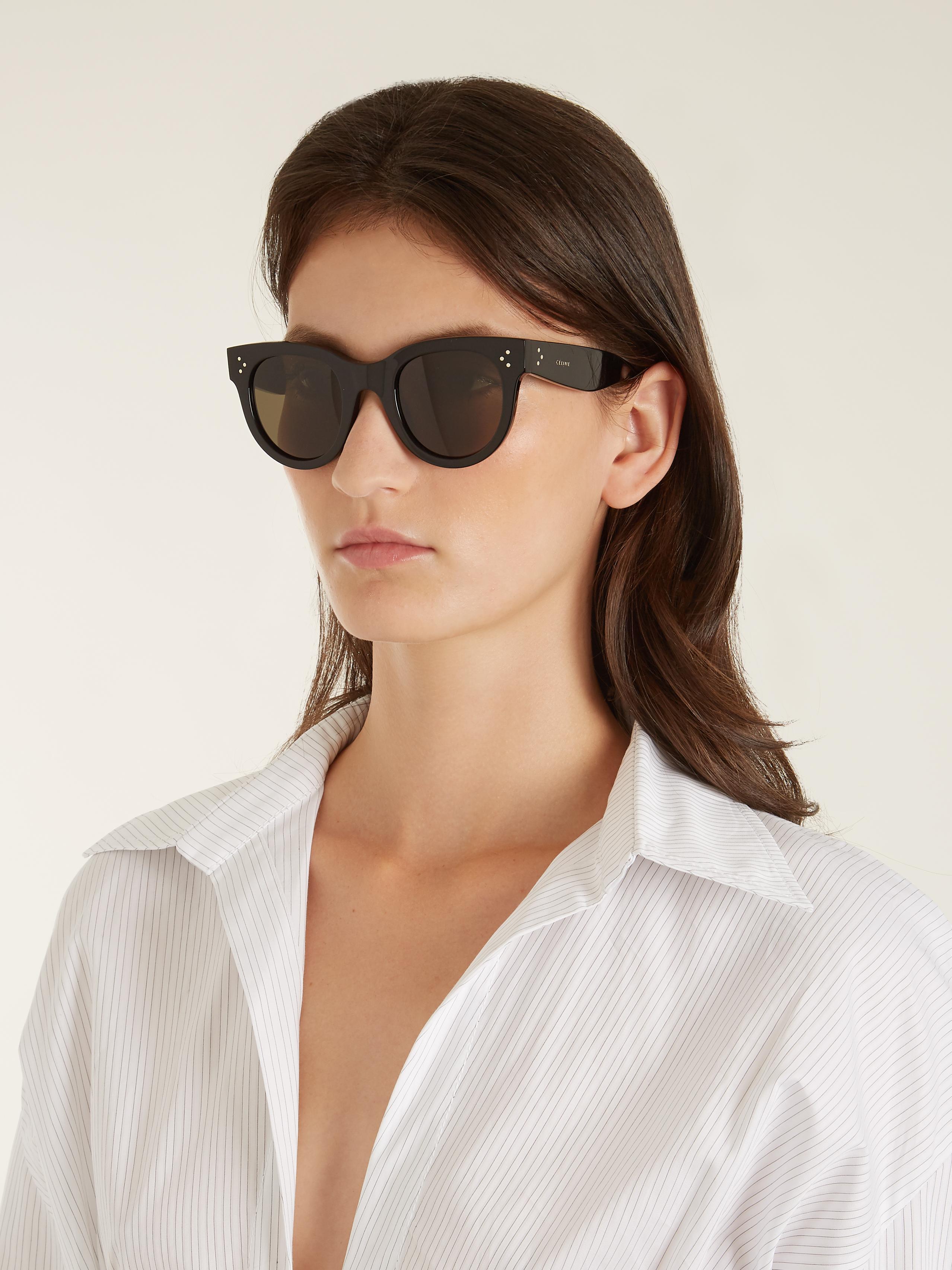 Lyst C 233 Line Baby Audrey Acetate Sunglasses In Black