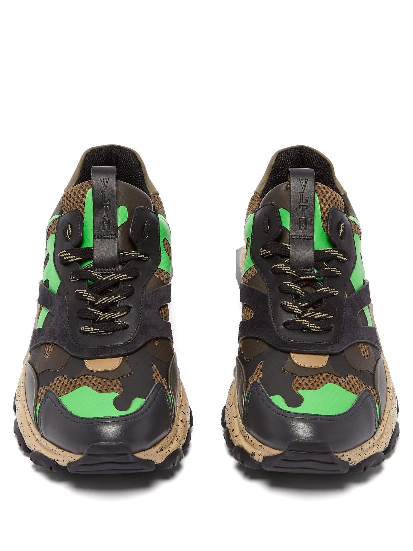 f53878a8b Valentino - Green Bounce Raised Sole Low Top Leather Trainers for Men -  Lyst. View fullscreen