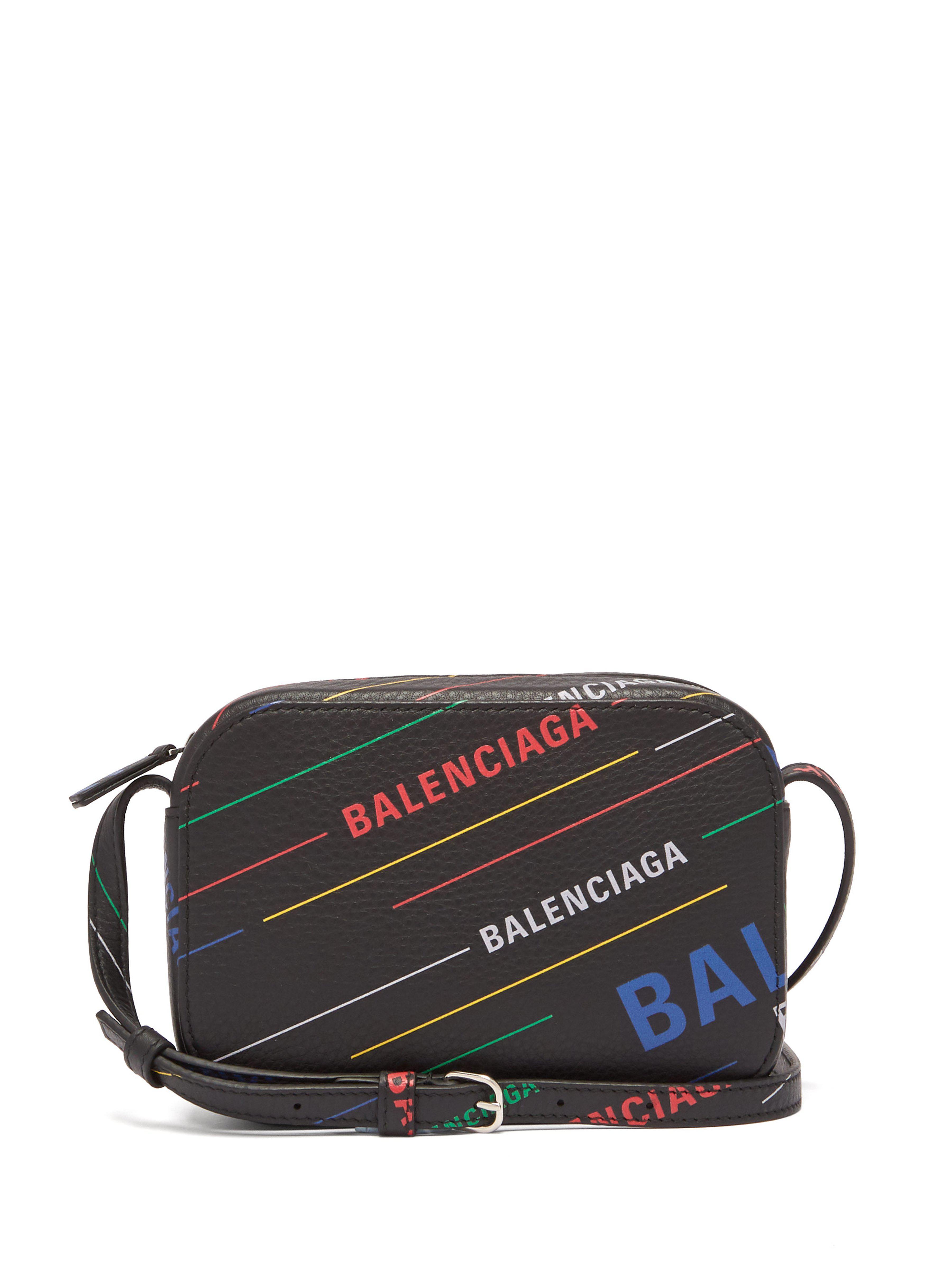 0e61609aa0c3 Balenciaga Everyday Xs Leather Cross Body Bag in Black - Lyst